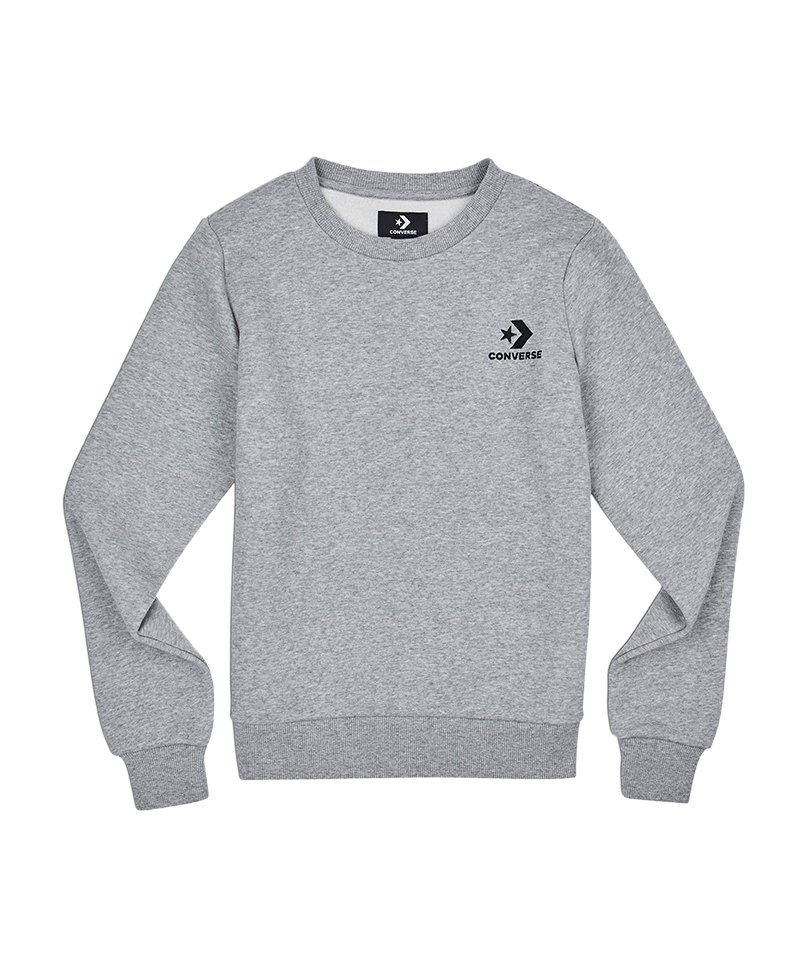 Converse Star Chevron Crew Sweatshirt Damen F035 - grau