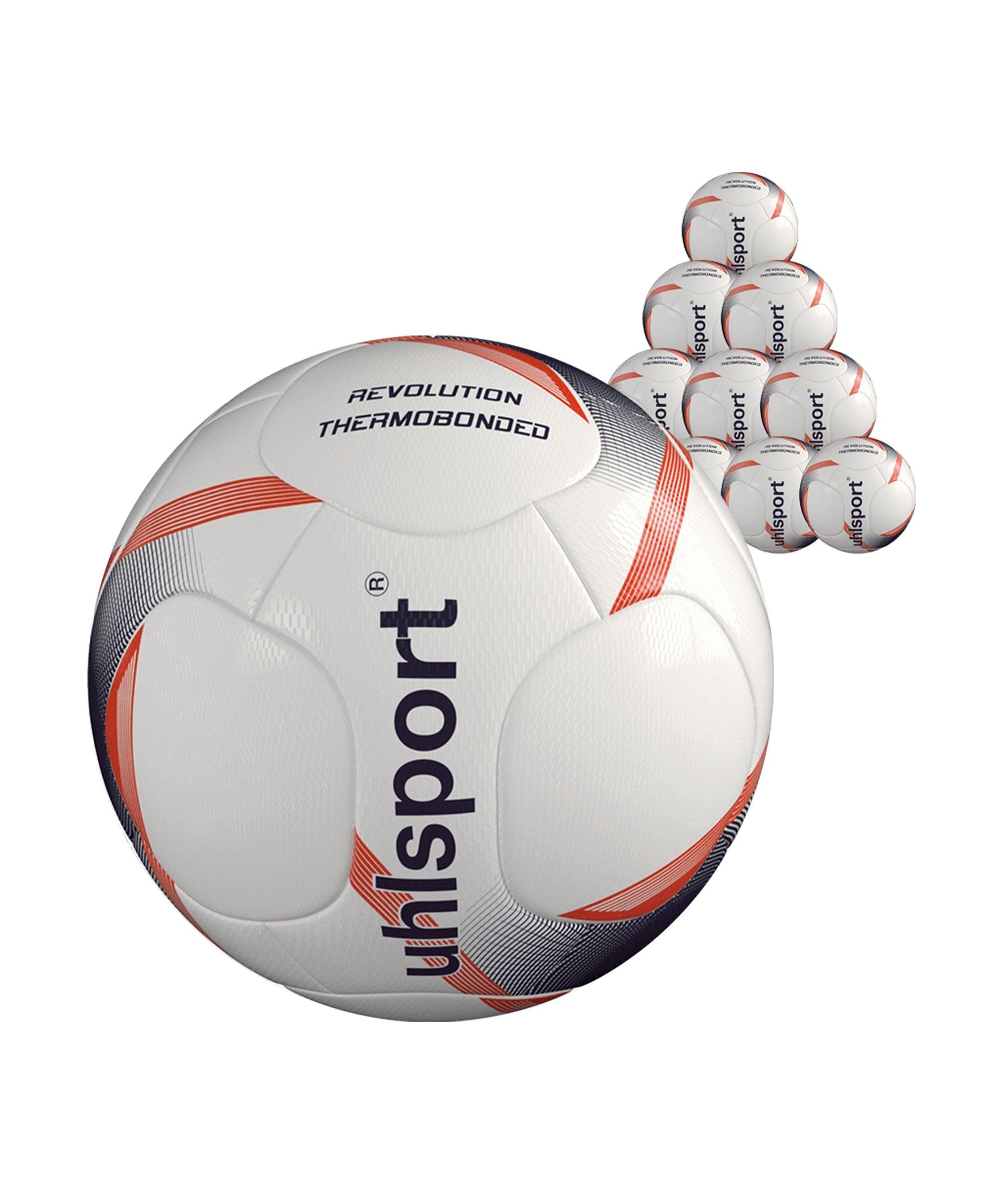 Uhlsport Infinity Revolution 3.0 x10 Gr 5 Fussball F01 - weiss