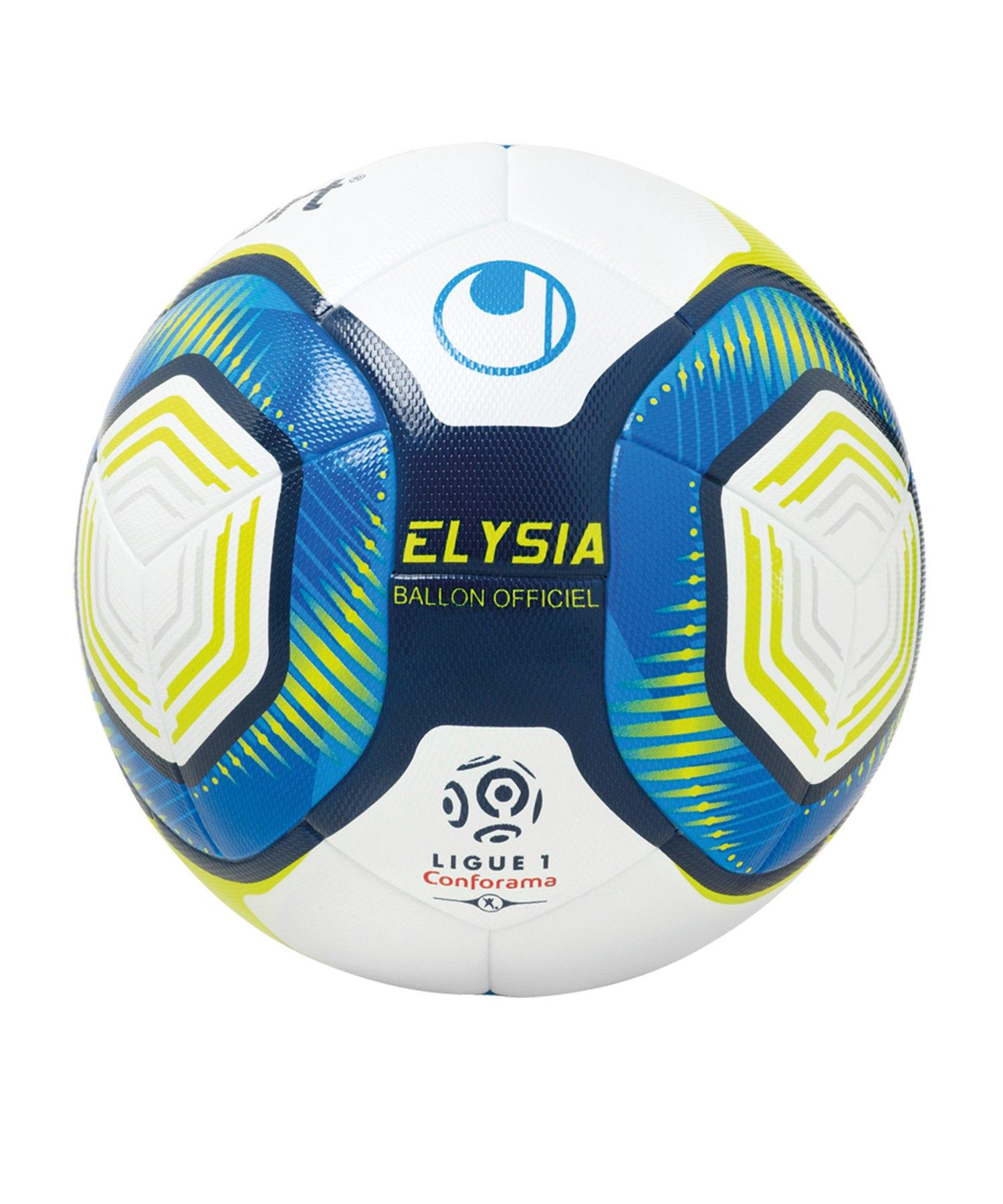 Uhlsport Elysia Ballon Officiel Fussbal 19 Weiss Blau F01 - weiss