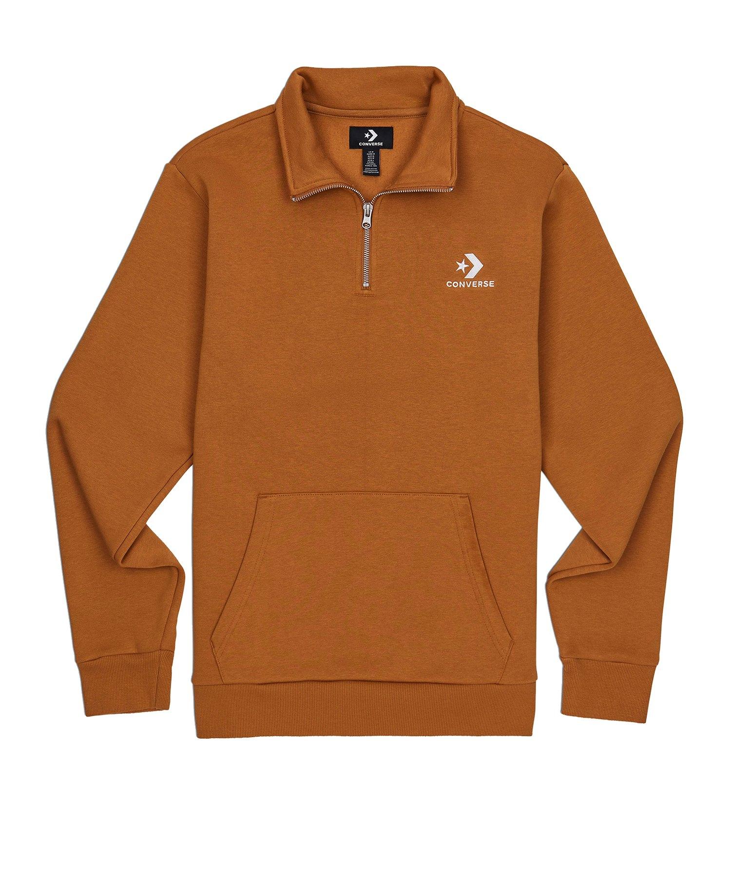 Converse Star Chev Half Zip Sweater Braun F212 - braun