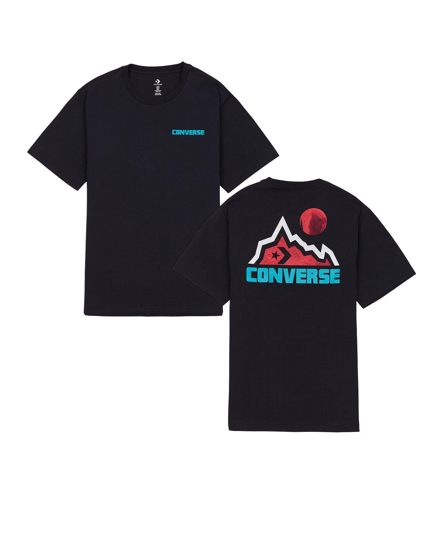 Converse Mountain Moon Graphic T-Shirt Schwarz - schwarz