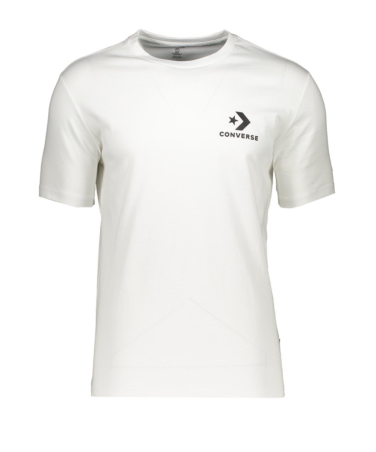 Converse Left Chest Star Chevron T-Shirt F102 - weiss