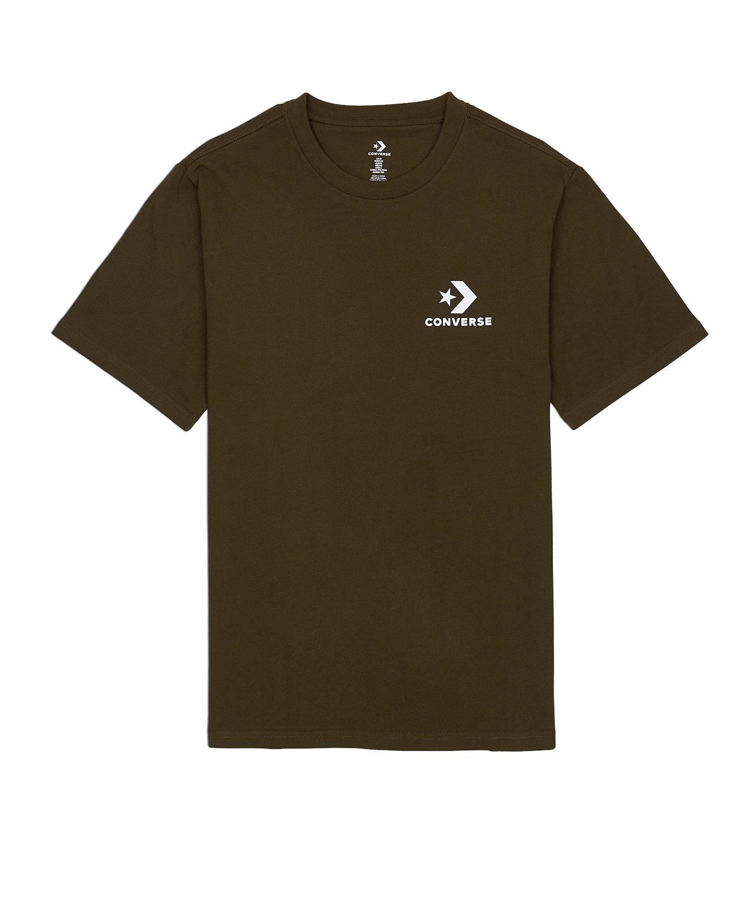 Converse Left Chest Star T-Shirt Grün - grün