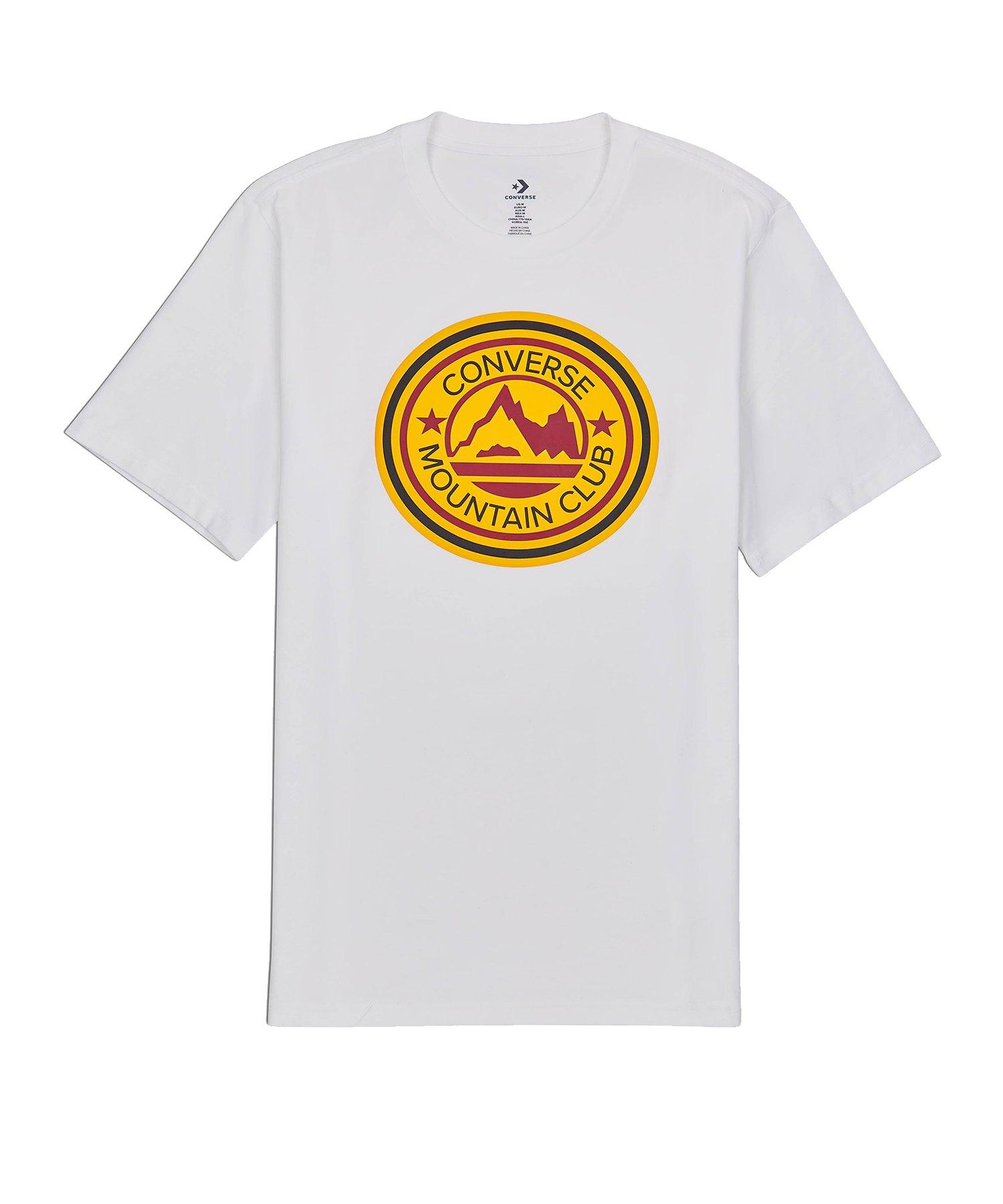 Converse Mountain Club Patch T-Shirt Weiss - weiss