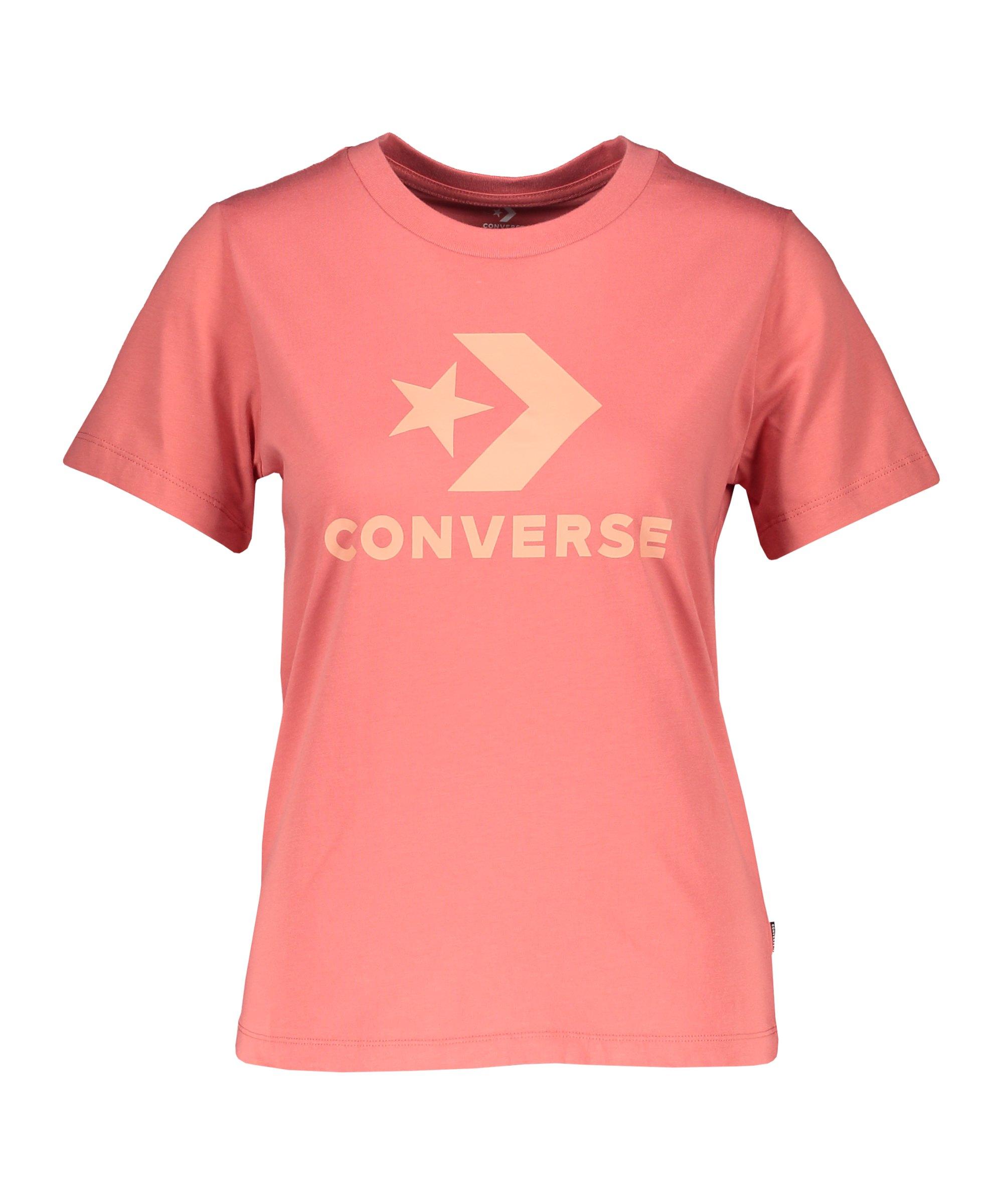 Converse Star Chevron Damen T-Shirt Pink F664 - pink