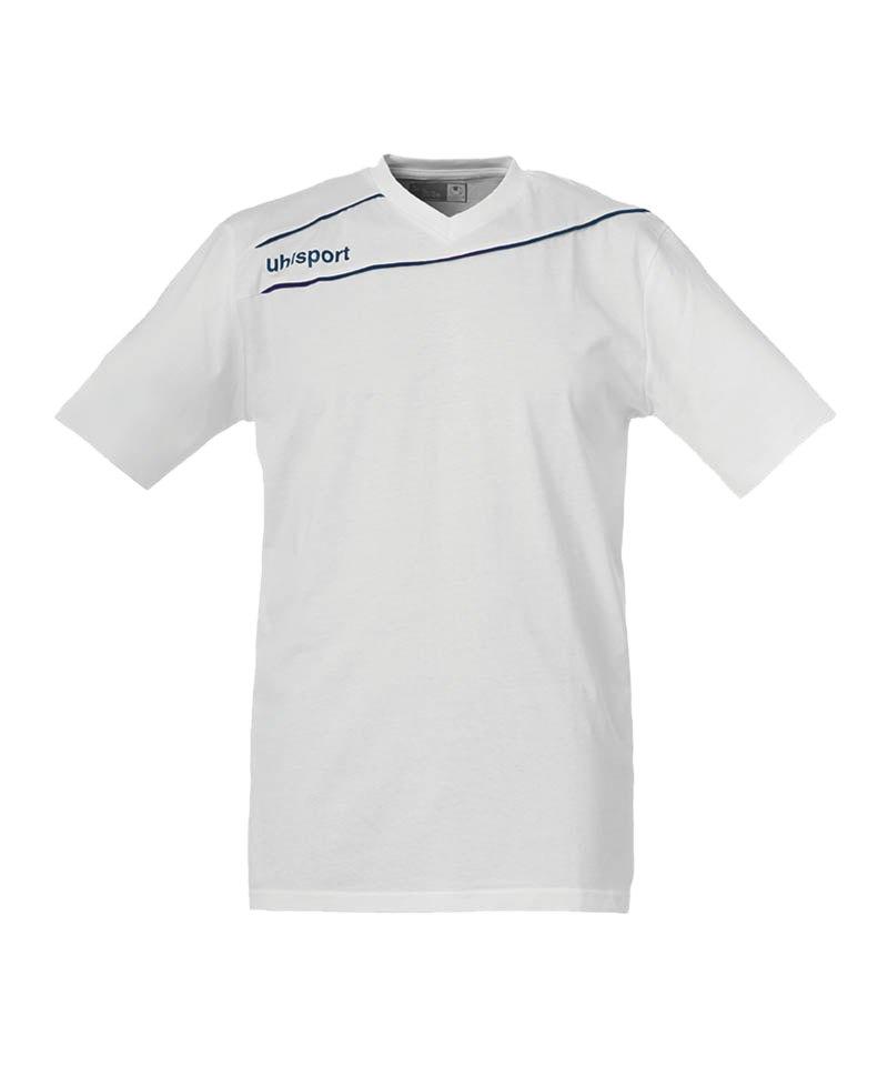 Uhlsport Baumwoll T-Shirt Stream 3.0 Weiss F10 - weiss