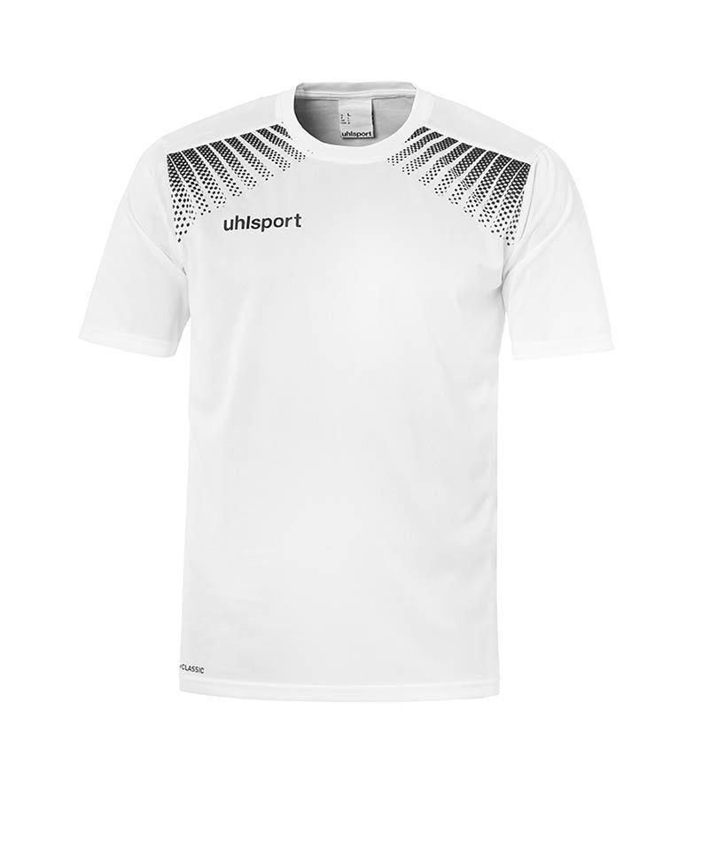 Uhlsport T-Shirt Goal Training Weiss Schwarz F02 - weiss