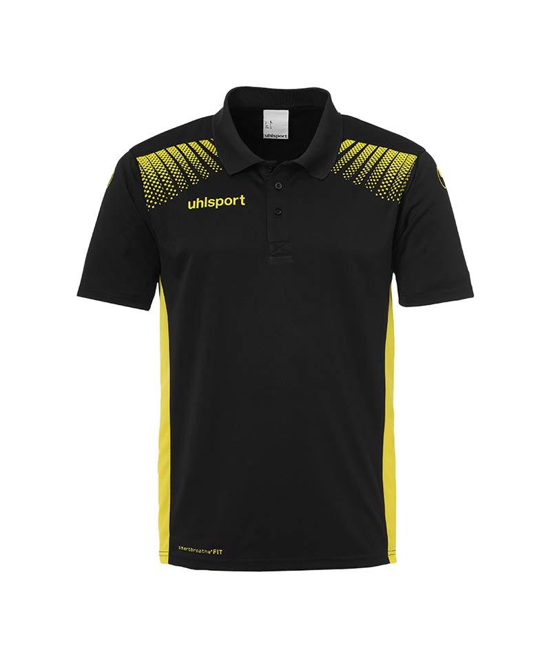 Uhlsport Poloshirt Goal Kinder Gelb F08 - schwarz