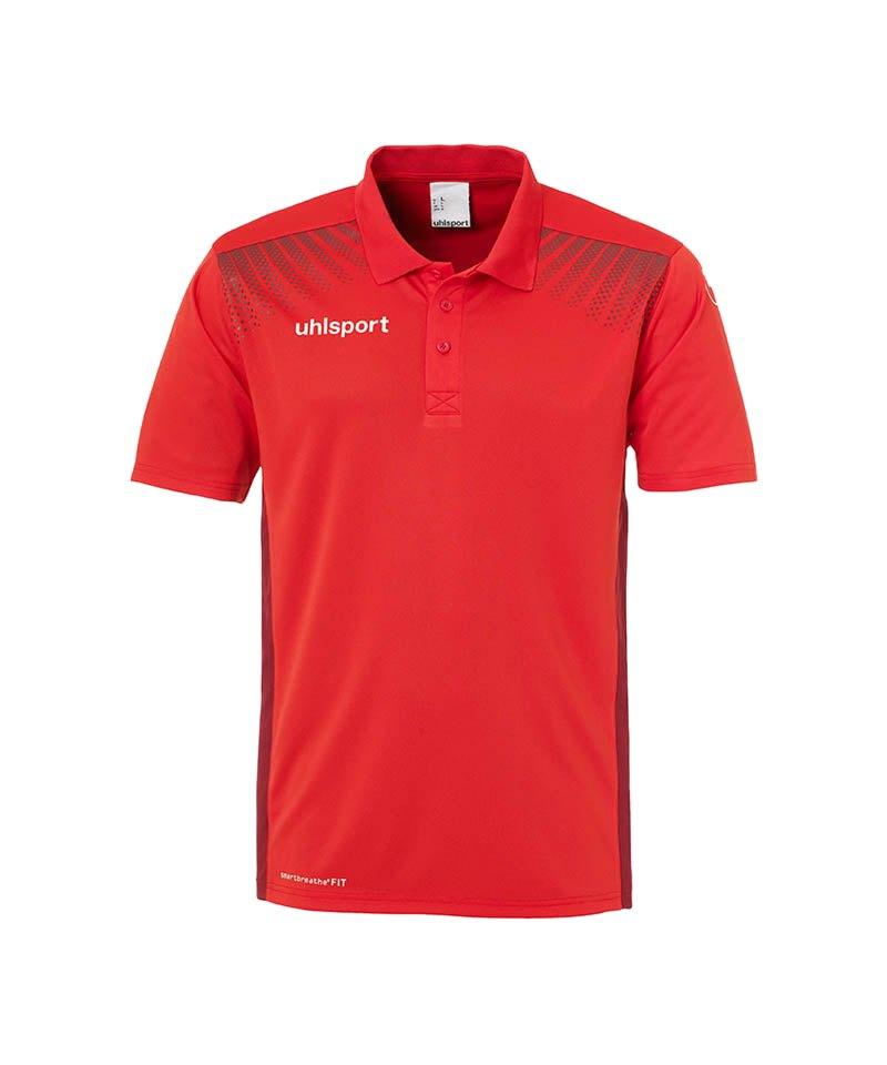 Uhlsport Poloshirt Goal Kinder Schwarz Rot F04 - rot