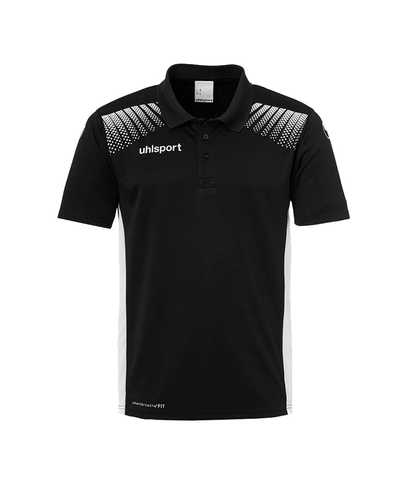 Uhlsport Poloshirt Goal Kinder Schwarz Weiss F01 - schwarz