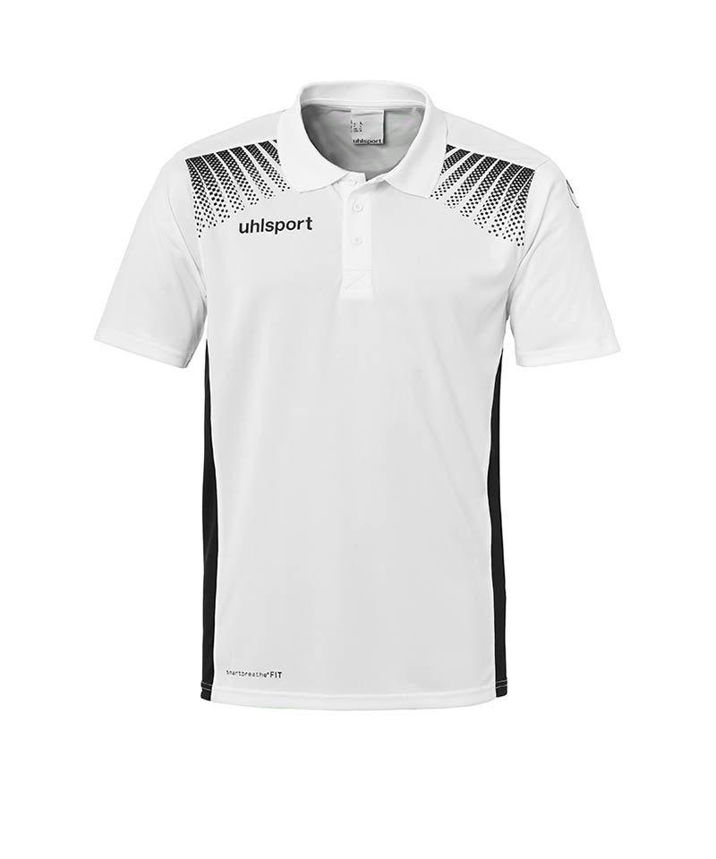 Uhlsport Poloshirt Goal Kinder Weiss Schwarz F02 - weiss