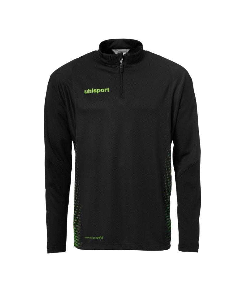 Uhlsport Score Ziptop Sweatshirt Schwarz Grün F06 - schwarz