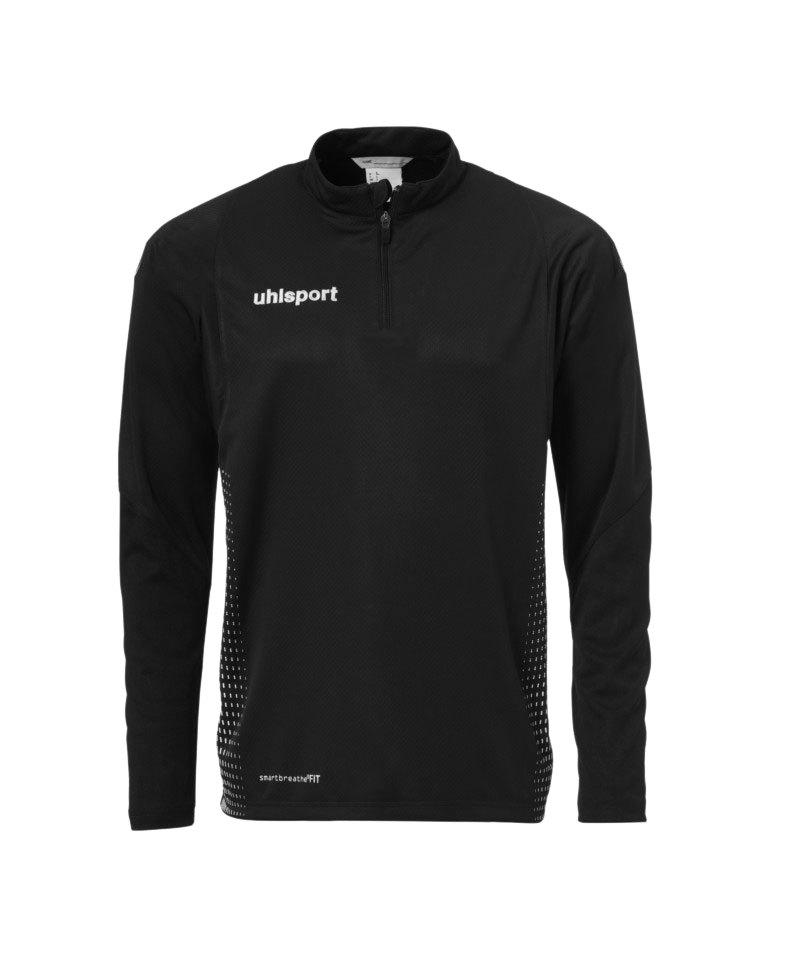 Uhlsport Score Ziptop Sweatshirt Schwarz Weiss F01 - schwarz