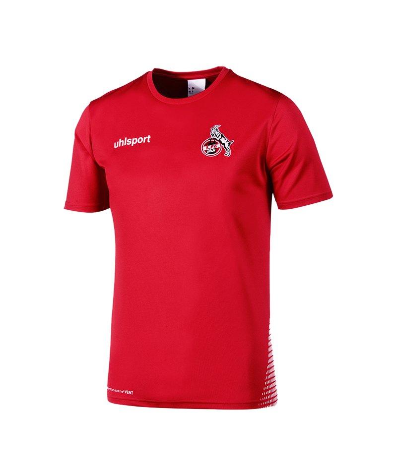 Uhlsport 1. FC Köln Trainingsshirt Rot Weiss - rot