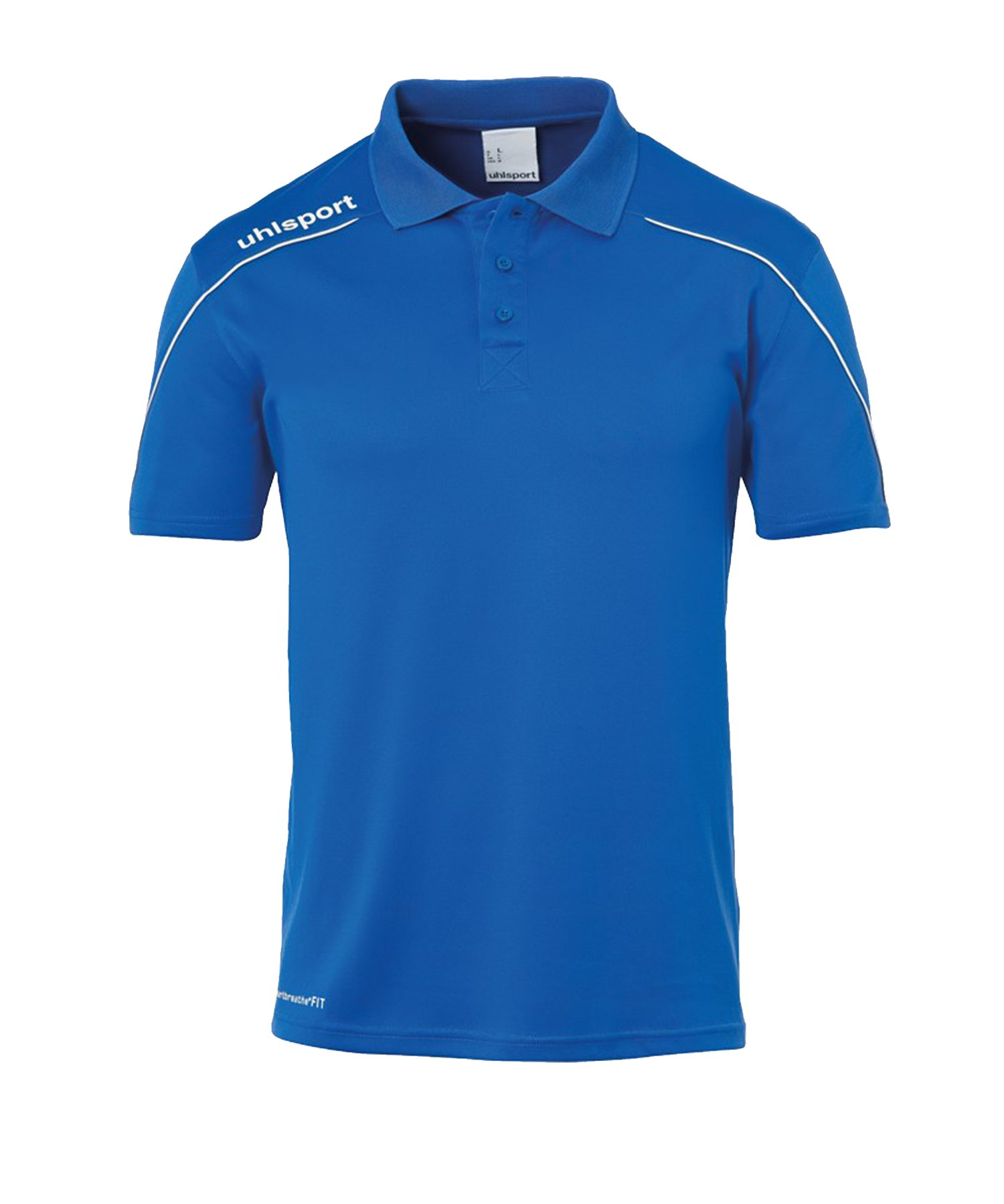 Uhlsport Stream 22 Poloshirt Blau Weiss F03 - Blau
