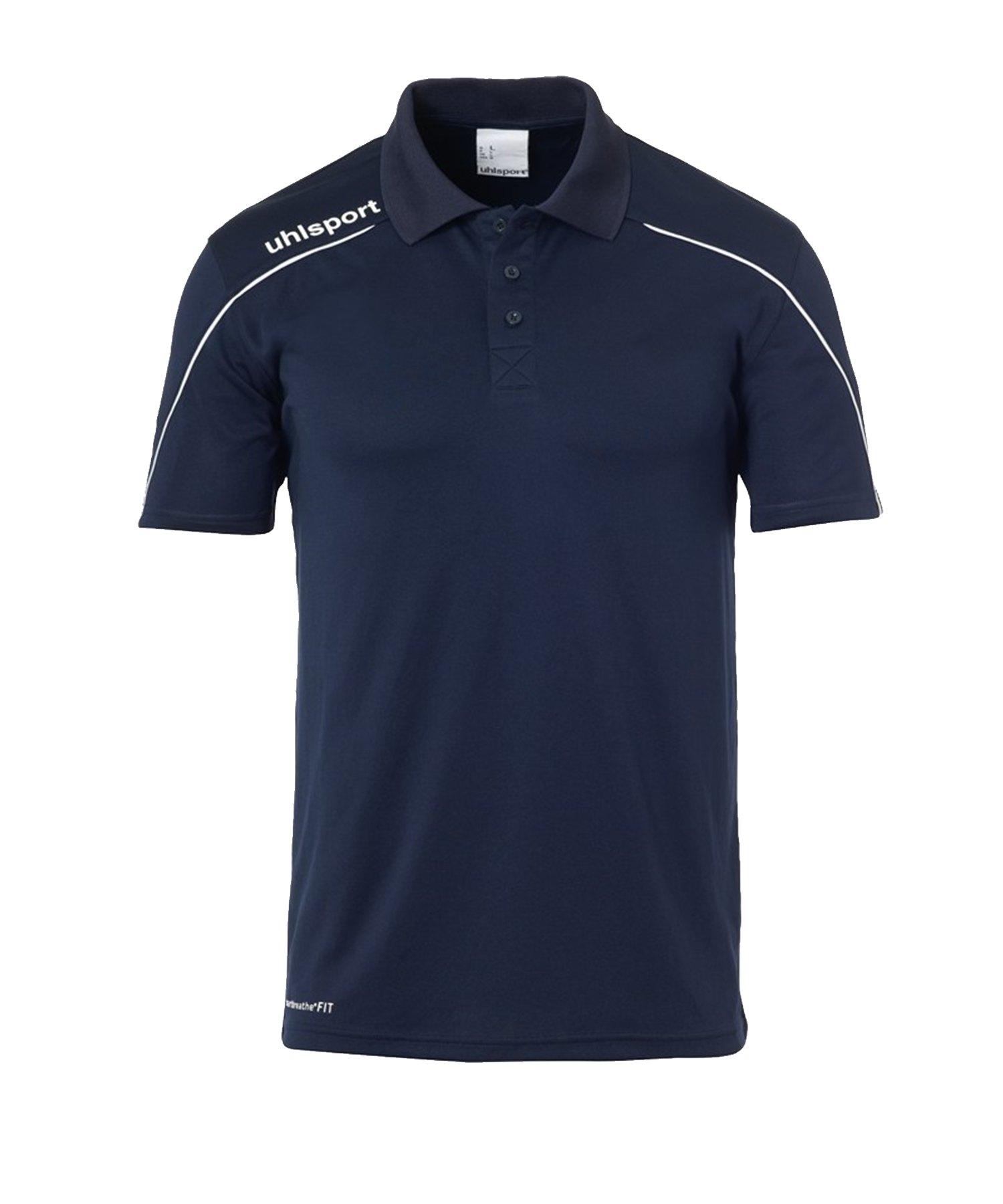 Uhlsport Stream 22 Poloshirt Blau Weiss F12 - Blau