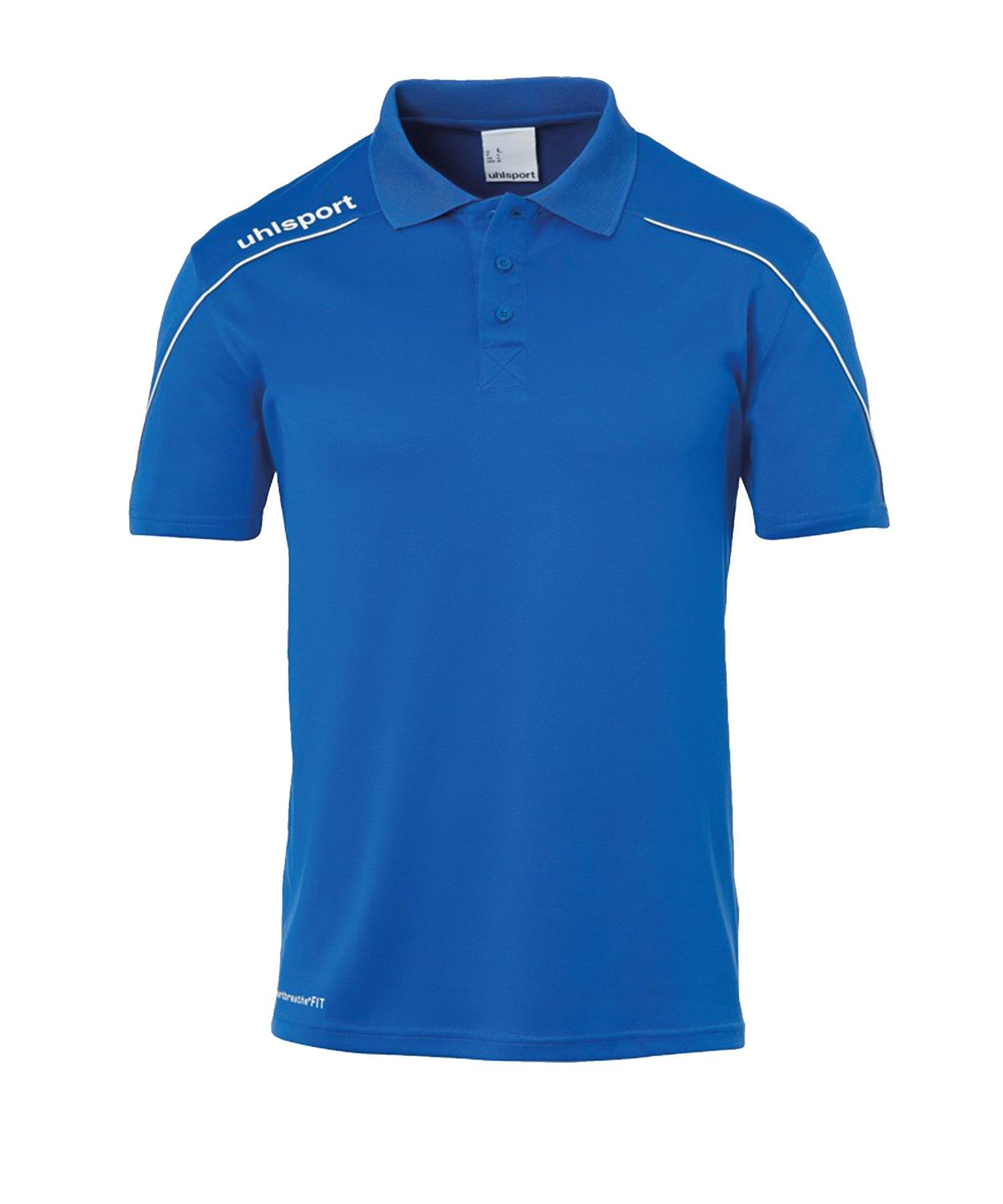Uhlsport Stream 22 Poloshirt Kids Blau Weiss F03 - Blau