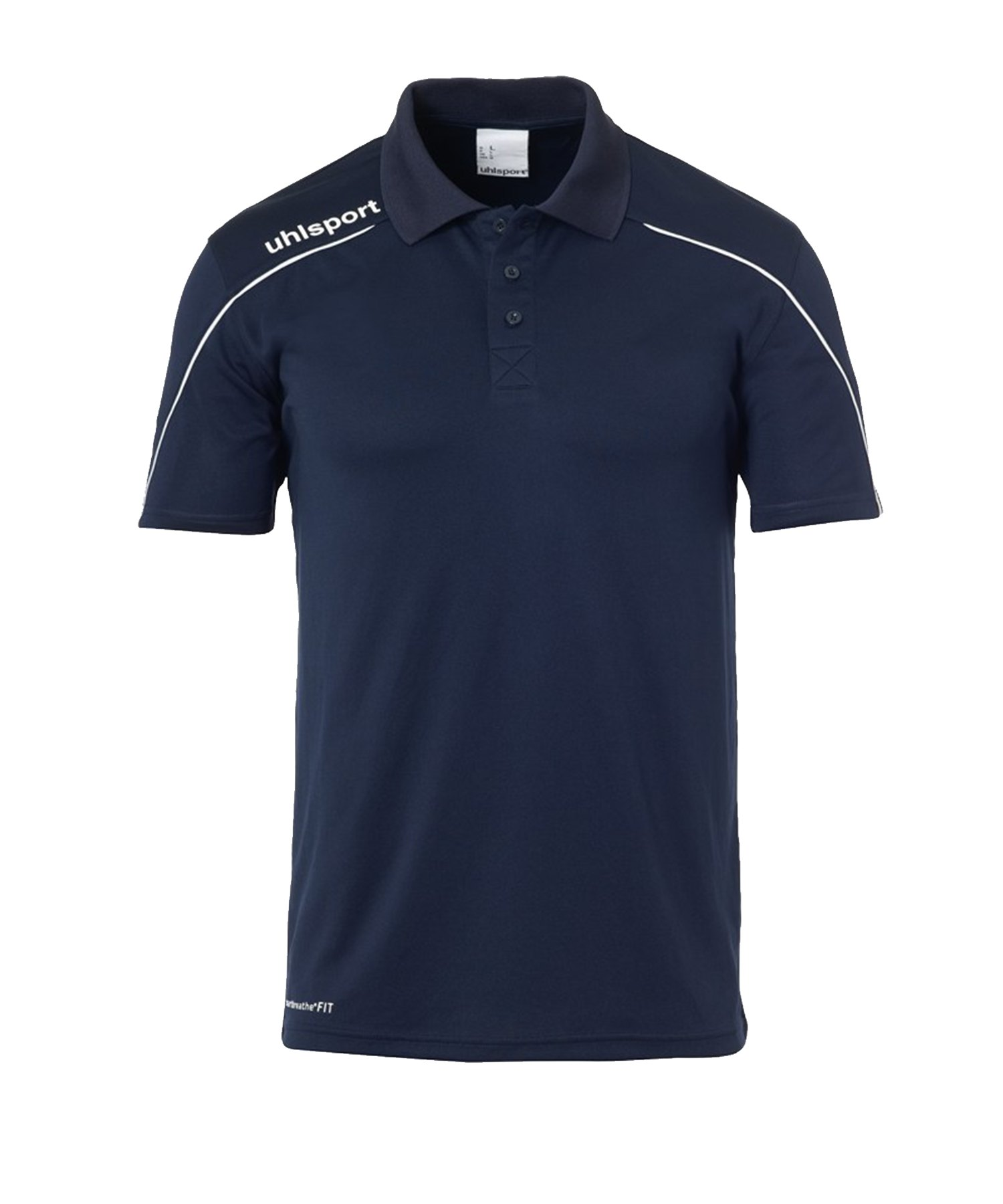Uhlsport Stream 22 Poloshirt Kids Blau Weiss F12 - Blau