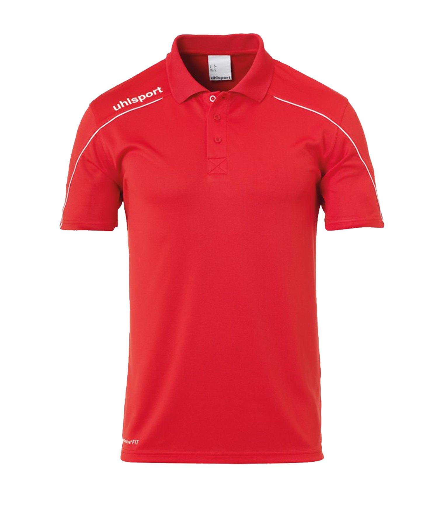 Uhlsport Stream 22 Poloshirt Kids Rot Weiss F04 - Rot