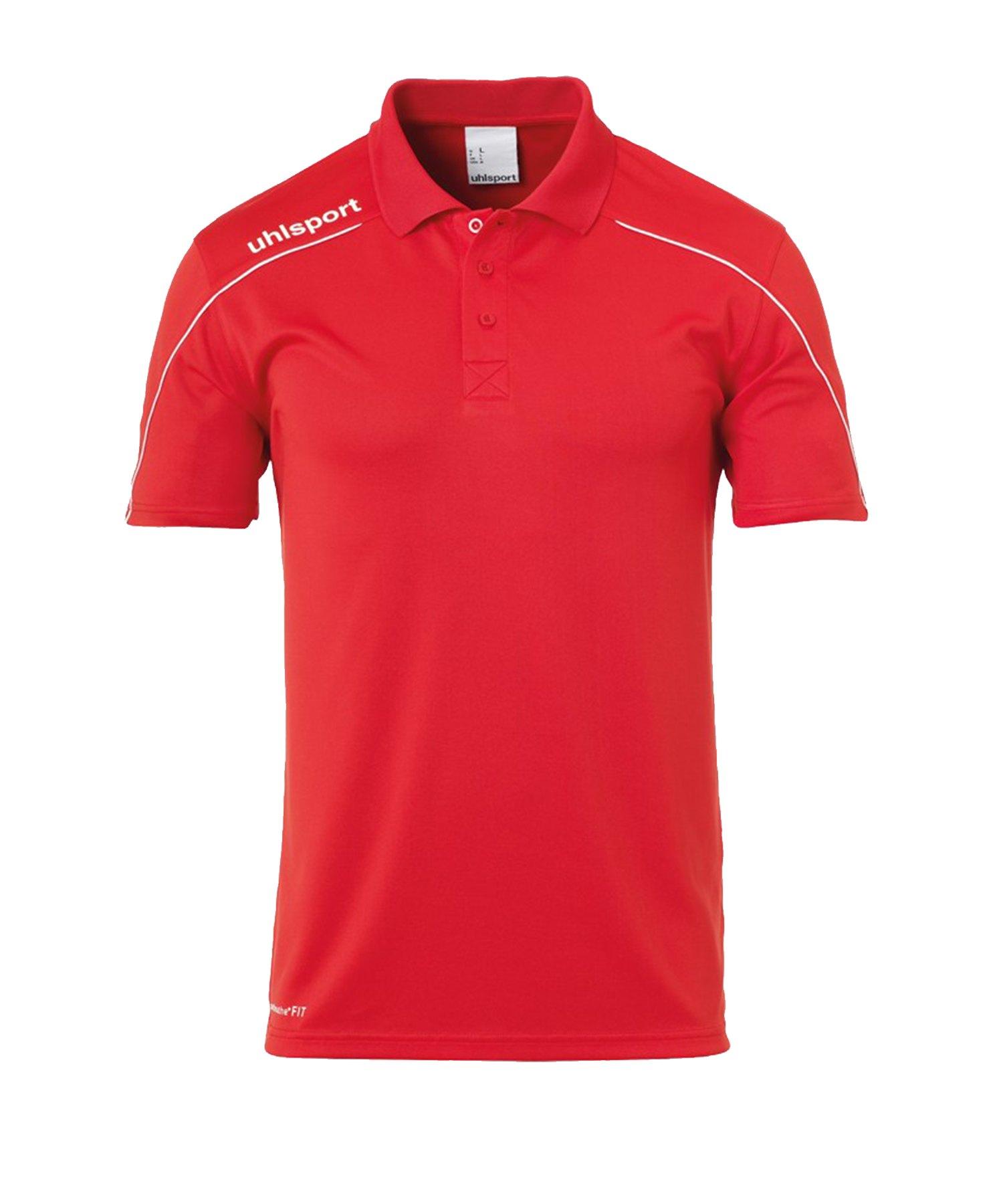 Uhlsport Stream 22 Poloshirt Rot Weiss F04 - Rot