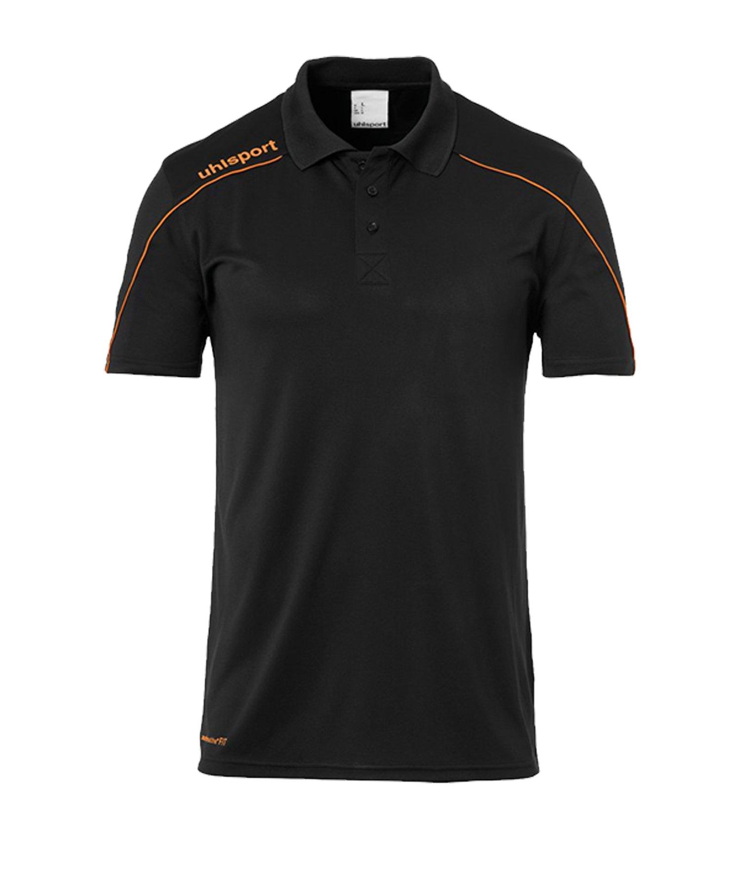 Uhlsport Stream 22 Poloshirt Schwarz Orange F22 - Schwarz