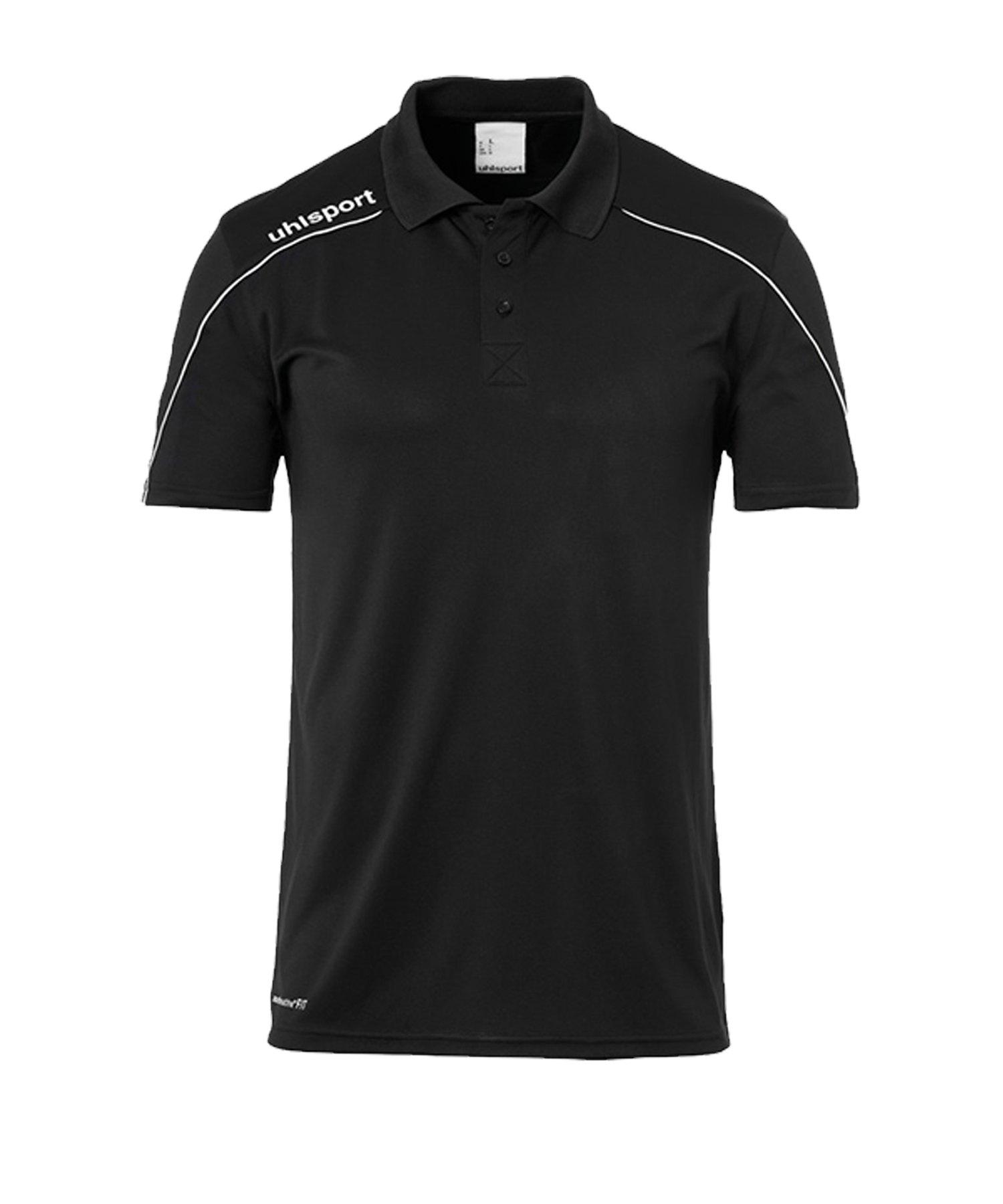 Uhlsport Stream 22 Poloshirt Schwarz Weiss F01 - Schwarz