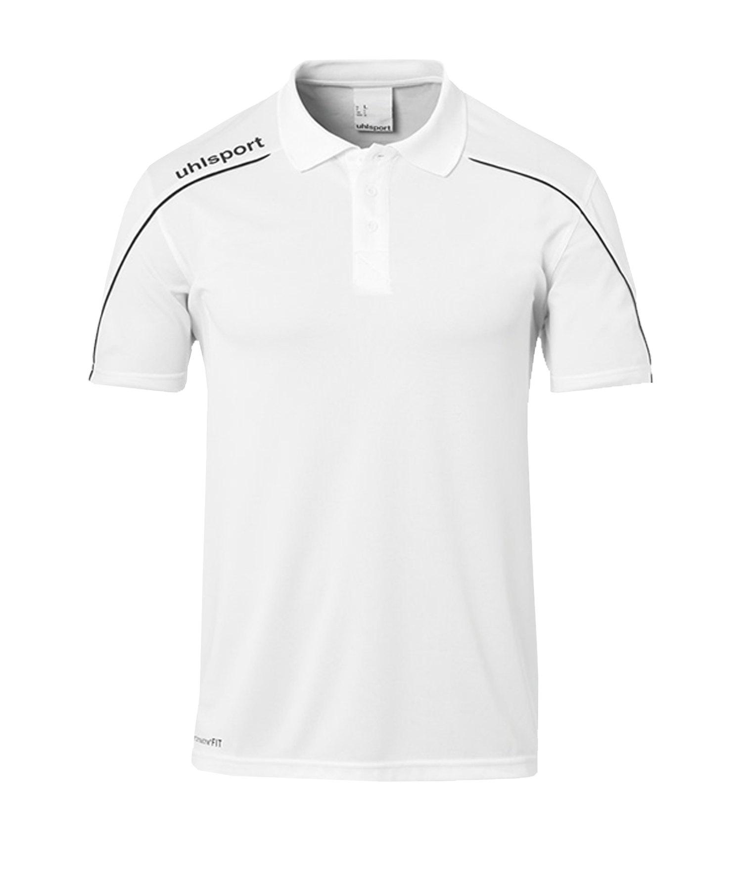 Uhlsport Stream 22 Poloshirt Weiss Schwarz F02 - Weiss