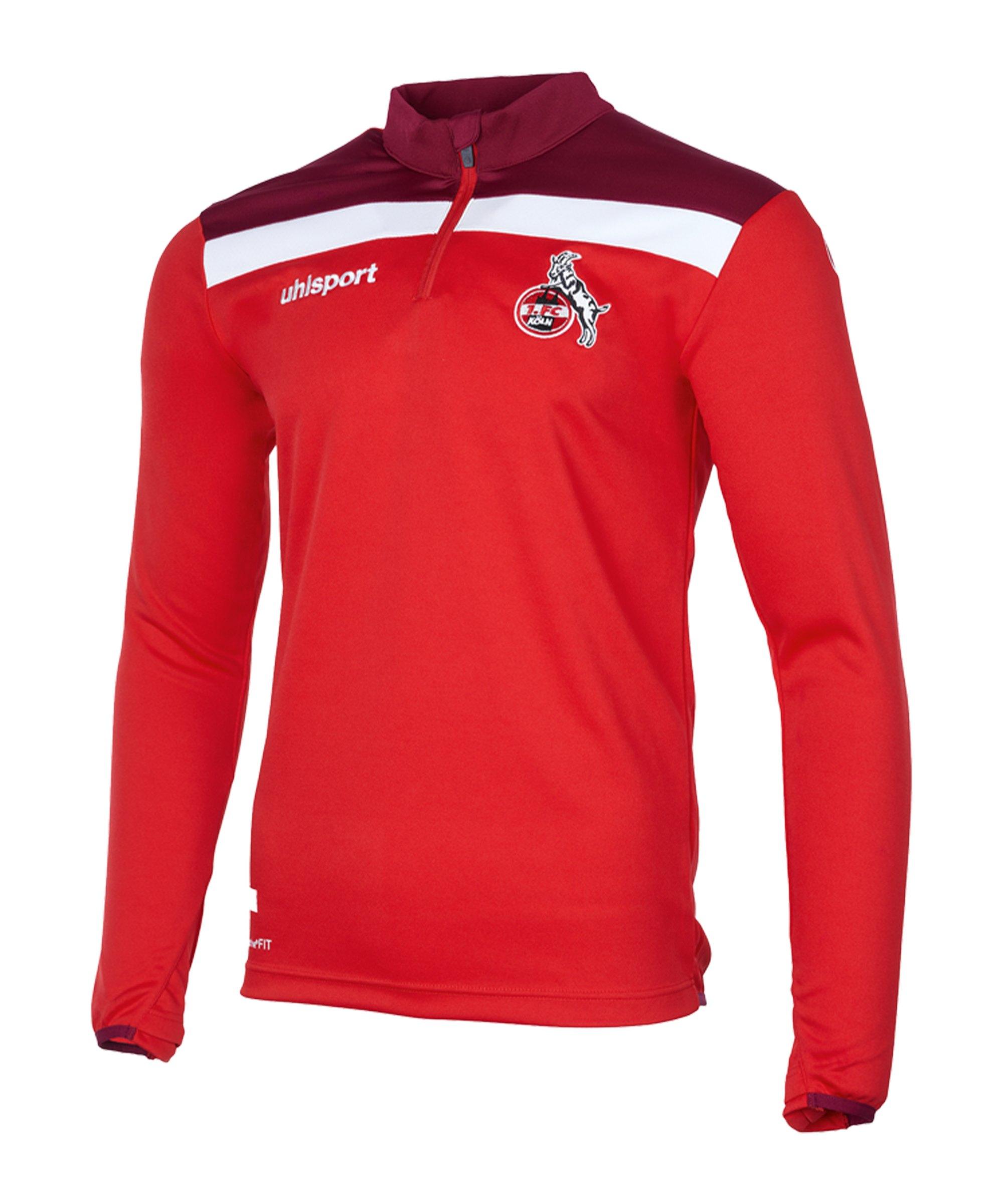 Uhlsport 1. FC Köln Sweatshirt Rot Weiss - rot