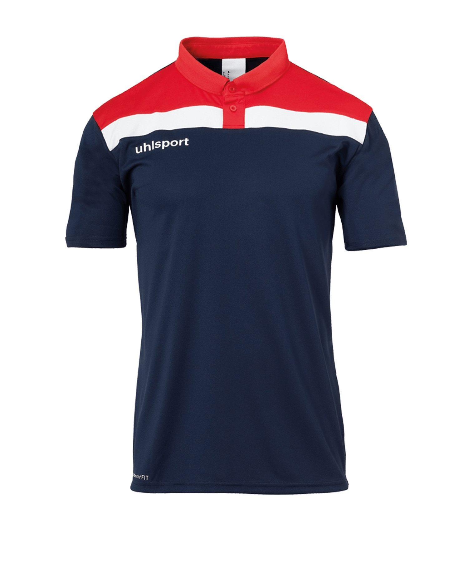 Uhlsport Offense 23 Poloshirt Kids Blau Rot F10 - blau