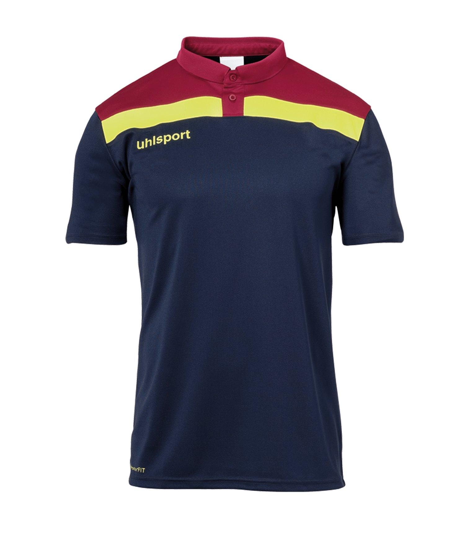 Uhlsport Offense 23 Poloshirt Kids Blau Rot F13 - blau