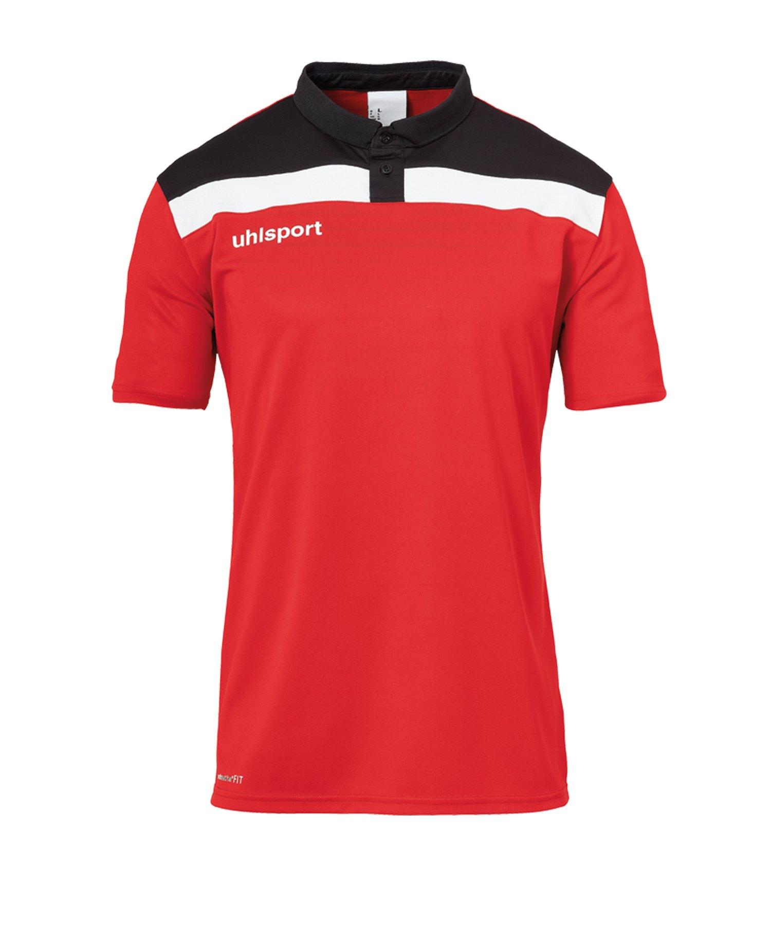 Uhlsport Offense 23 Poloshirt Rot Schwarz F04 - rot
