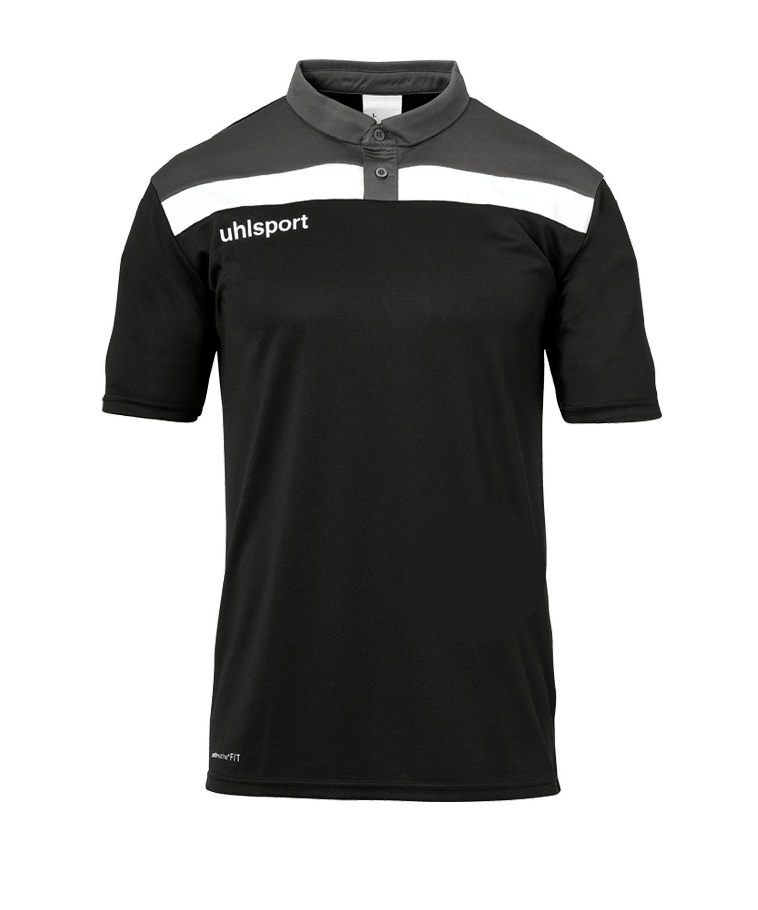 Uhlsport Offense 23 Poloshirt Schwarz Grau F01 - schwarz