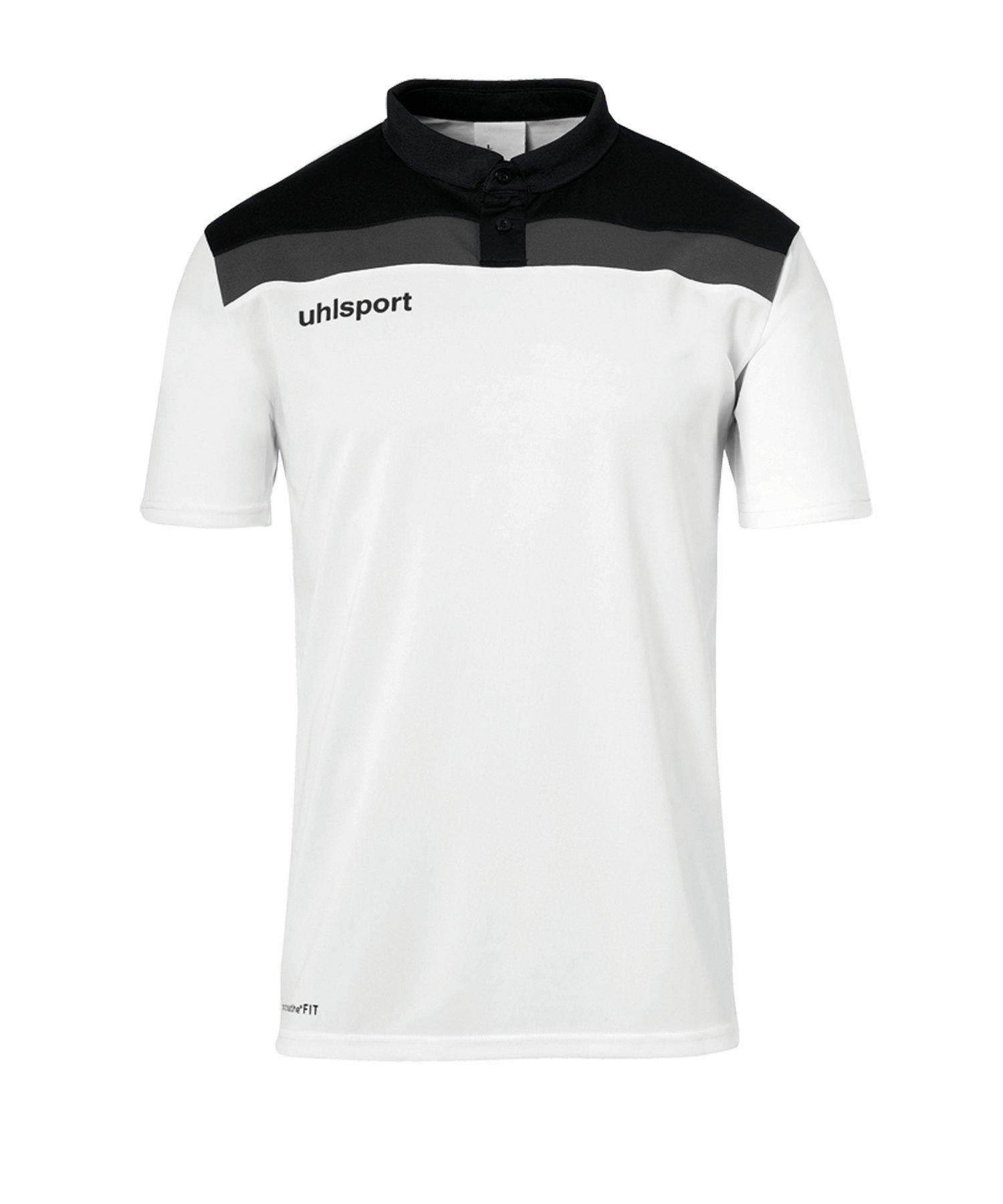 Uhlsport Offense 23 Poloshirt Weiss Schwarz F02 - weiss