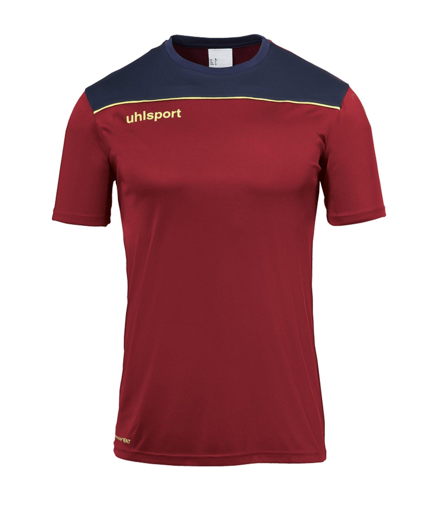 Uhlsport Offense 23 Poly T-Shirt Blau F13 - rot