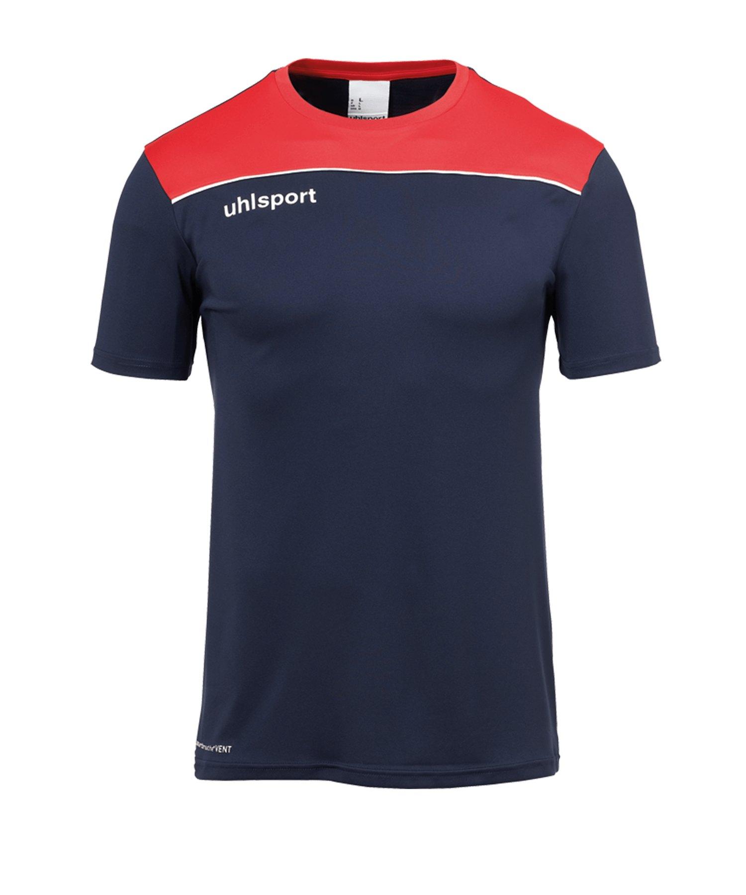 Uhlsport Offense 23 Trainingsshirt Blau Rot F10 - blau