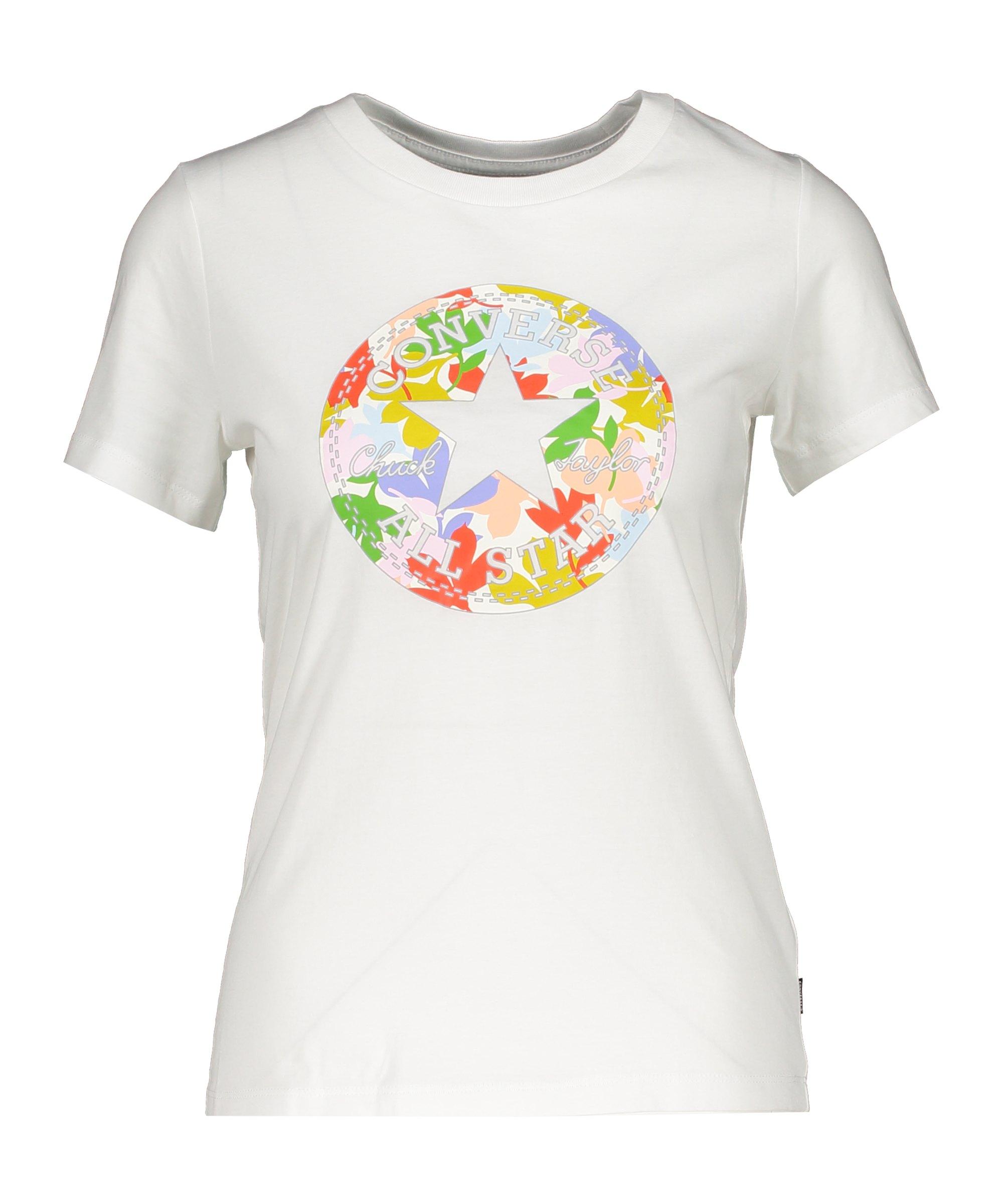 Converse Flower Chuck Patch Damen T-Shirt F102 - weiss