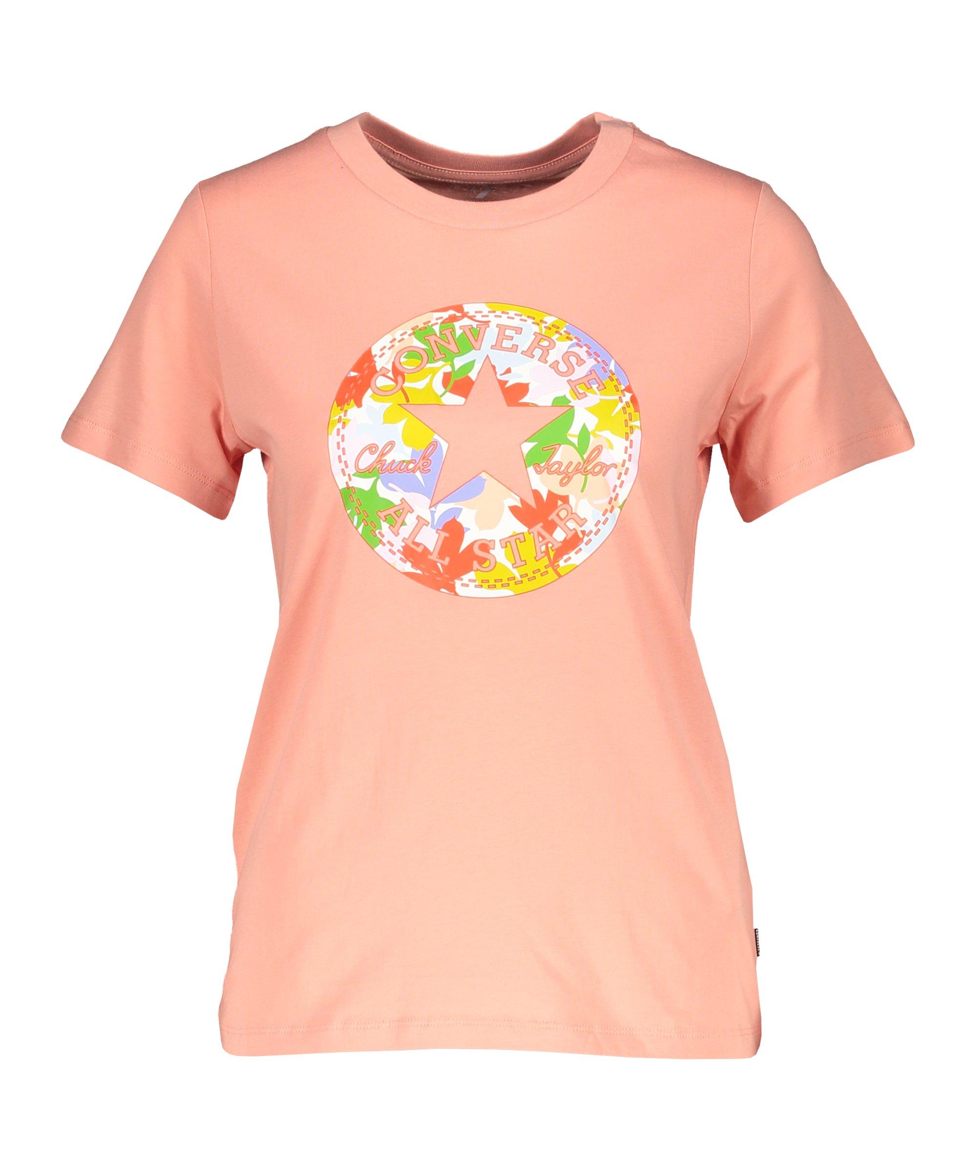 Converse Flower Chuck Patch Damen T-Shirt F651 - rosa