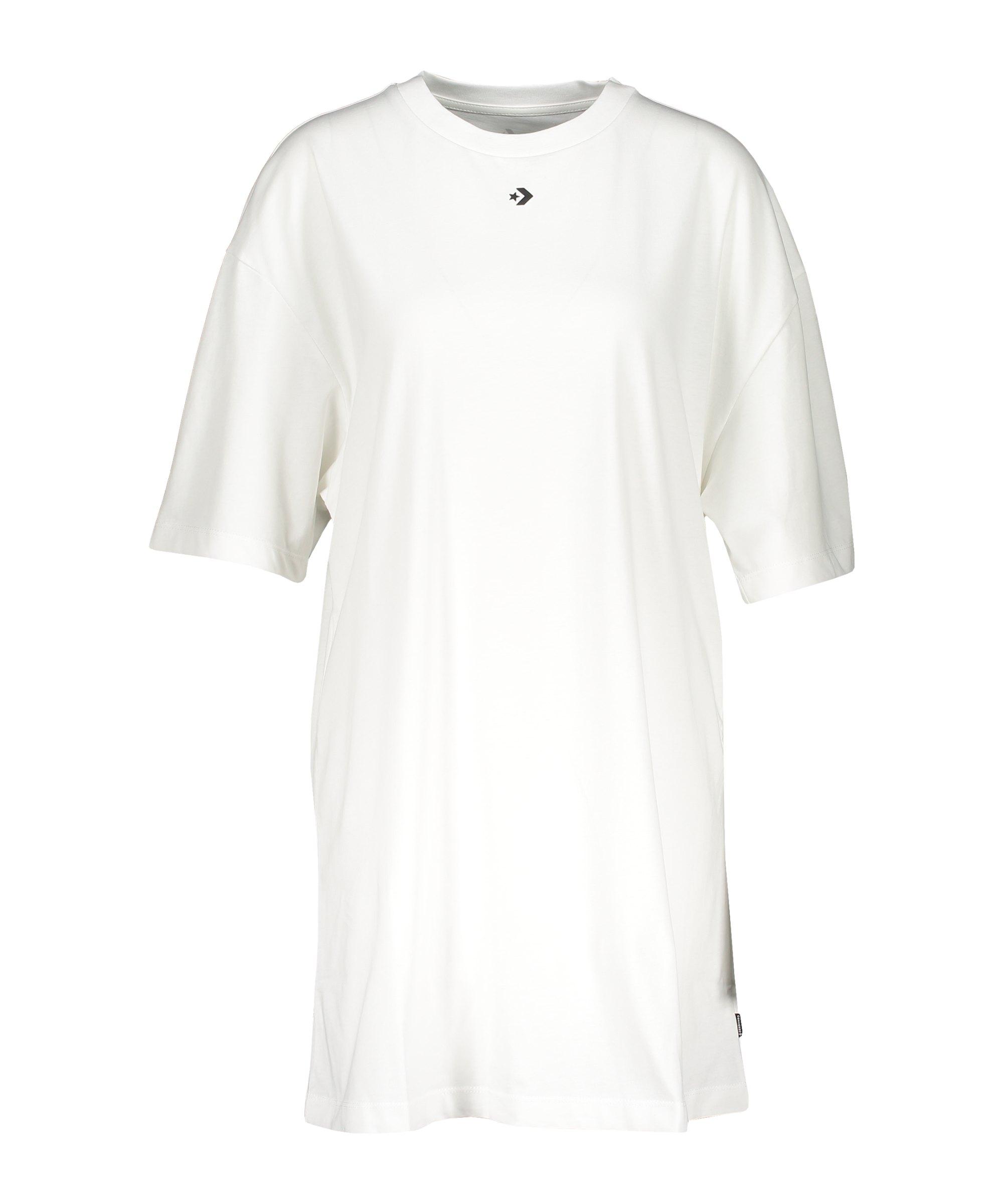 Converse Wordmark Damen T-Shirtkleid Weiss F102 - weiss
