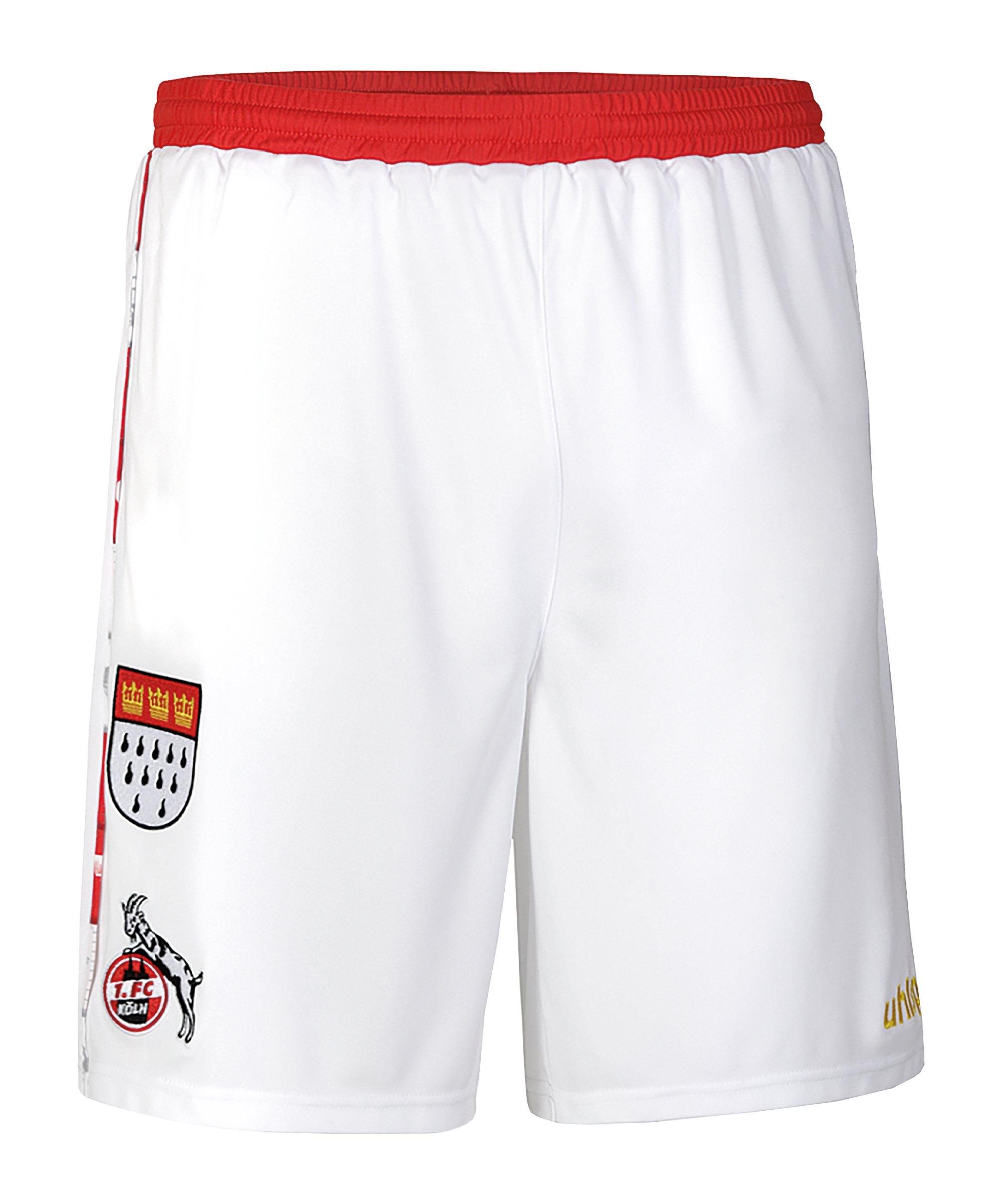 Uhlsport 1. FC Köln Karneval Short 2020/2021 - weiss