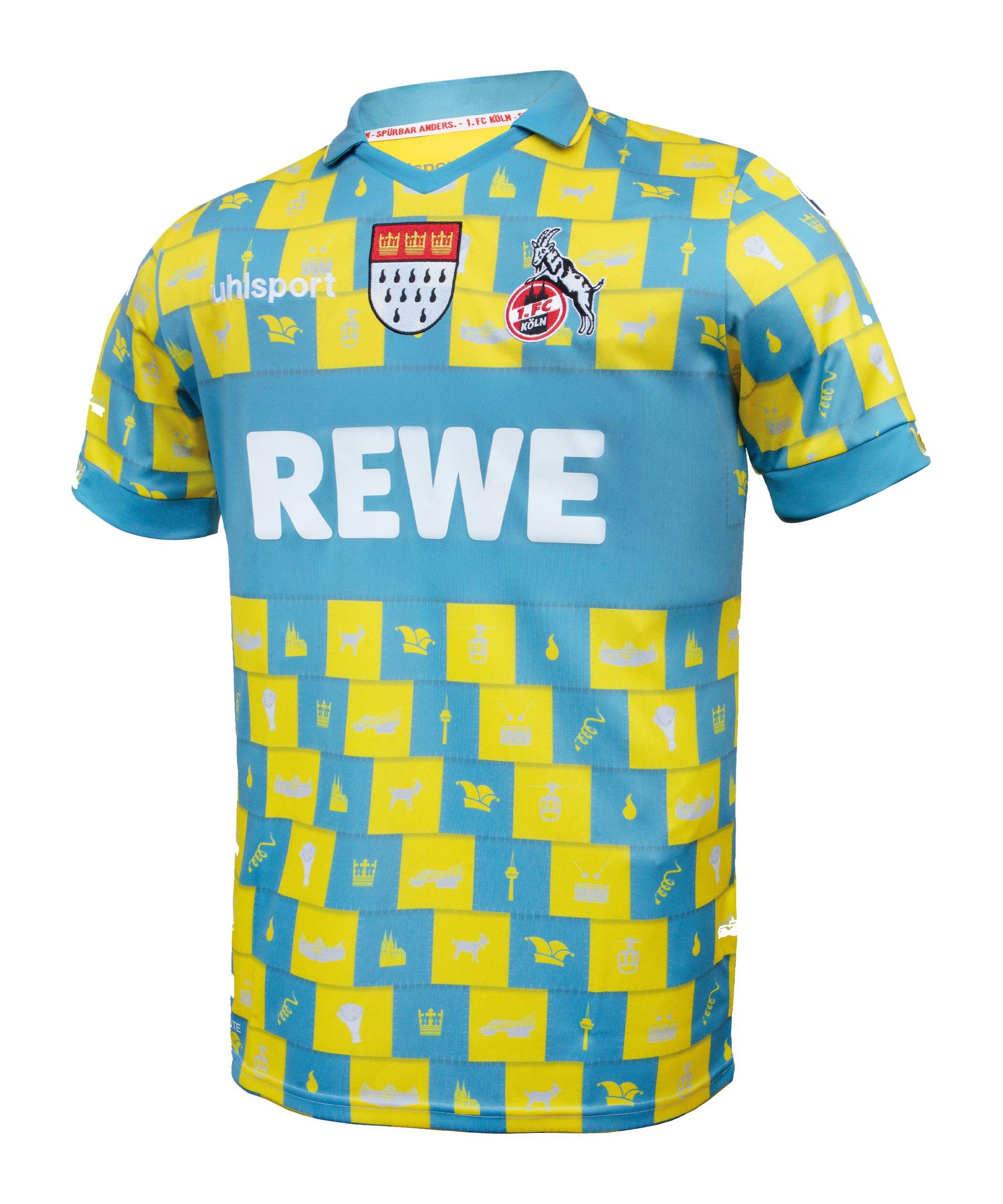 Uhlsport 1. FC Köln Karneval TW-Trikot 2020/2021 - gelb