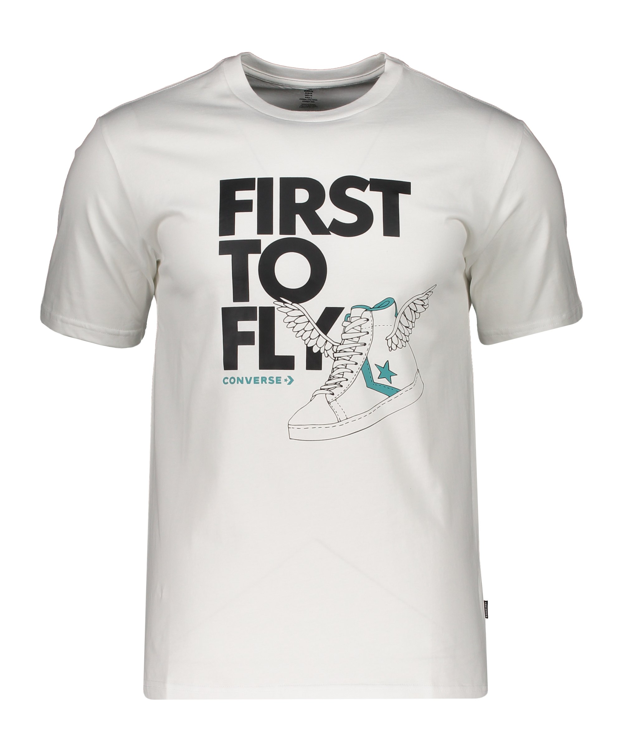 Converse First To Fly Back T-Shirt Weiss F102 - weiss