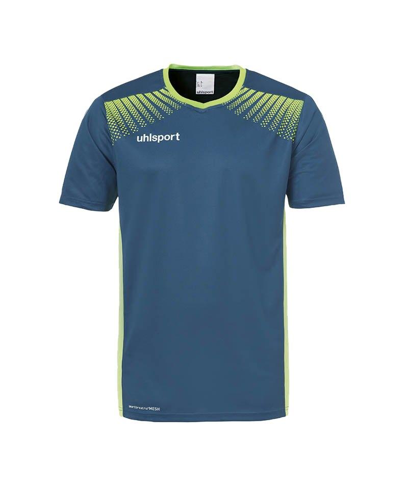 Uhlsport Trikot Goal kurzarm Kinder Blau Grün F06 - blau