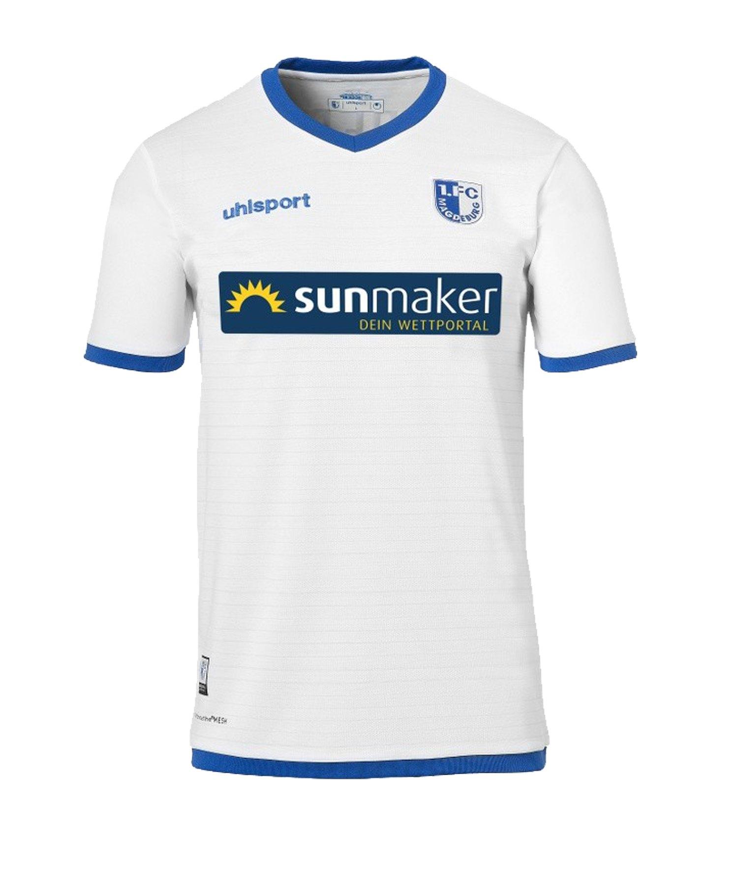 Uhlsport 1. FC Magdeburg Trikot Away Kids 19/20 - weiss