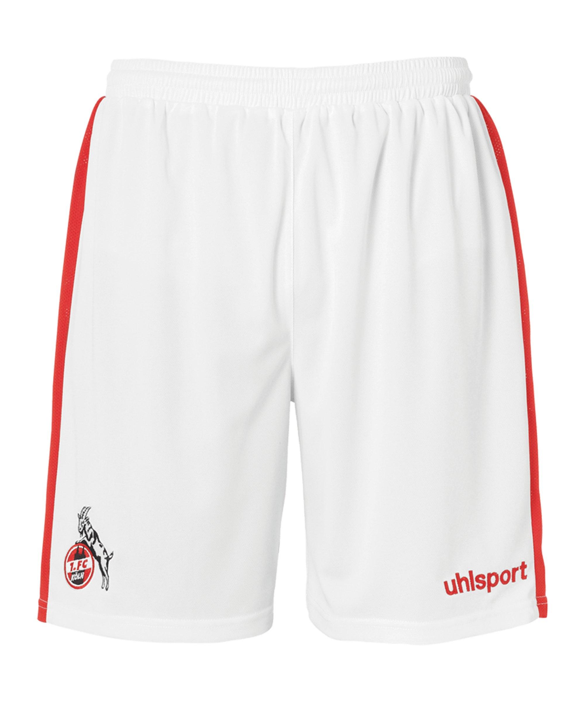 Uhlsport 1. FC Köln Short Home 20/21 Kids - weiss