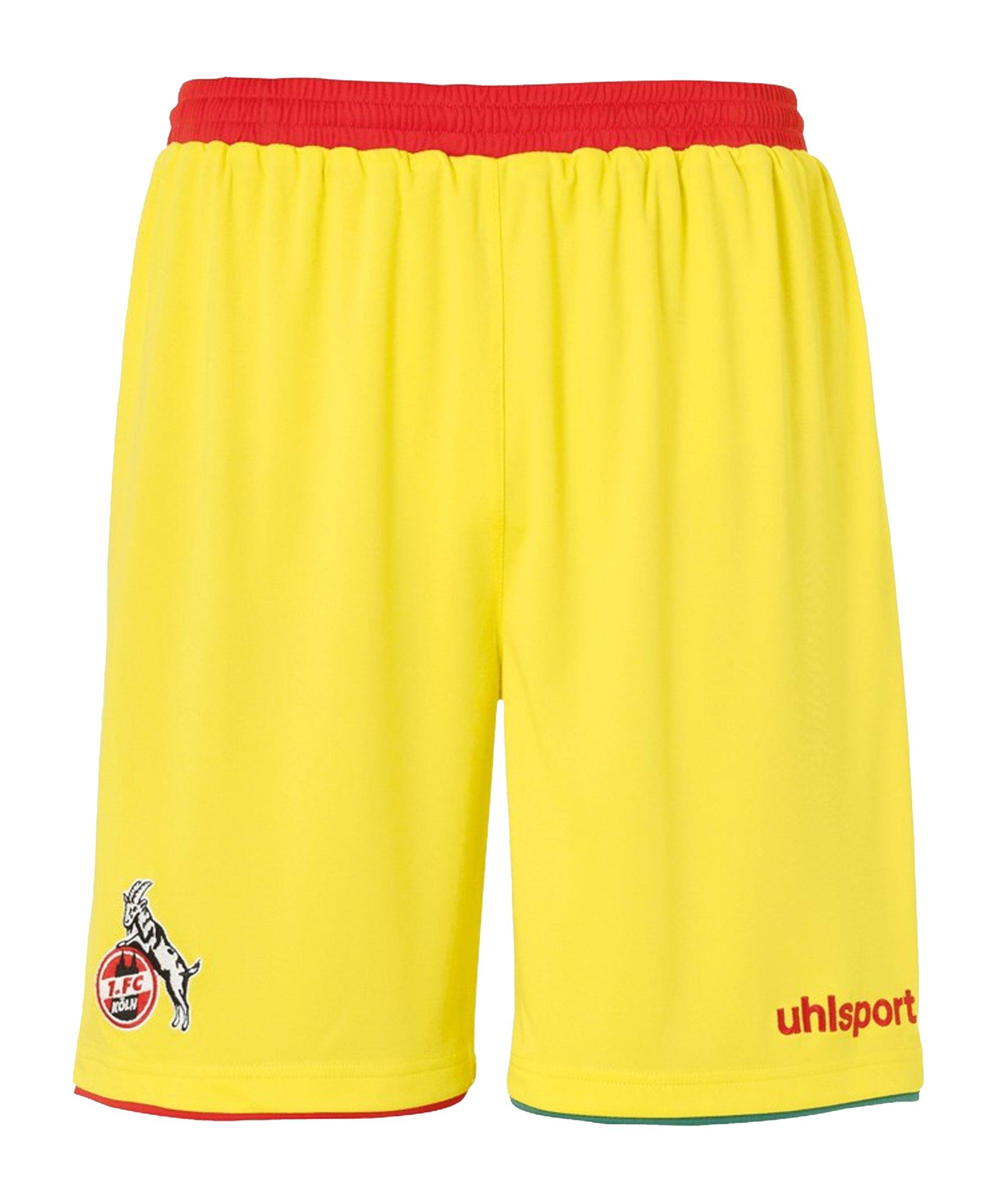 Uhlsport 1. FC Köln Short 3rd 2020/2021 - gelb