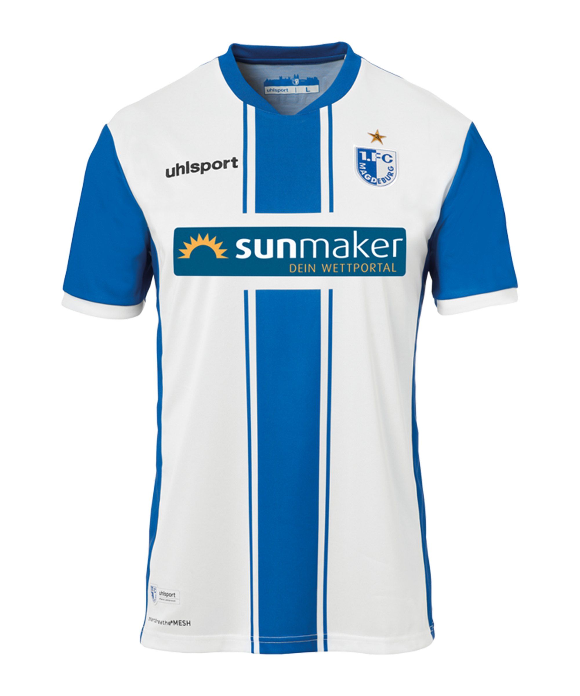 Uhlsport 1. FC Magdeburg Trikot Home Kids2020/2021 - weiss