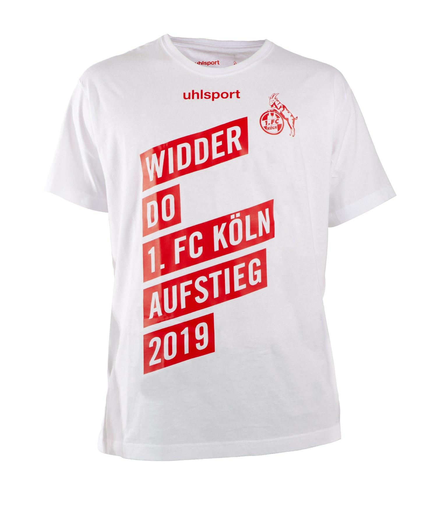 Uhlsport 1.FC Köln Aufstiegs T-Shirt 18/19 Weiss Rot - weiss