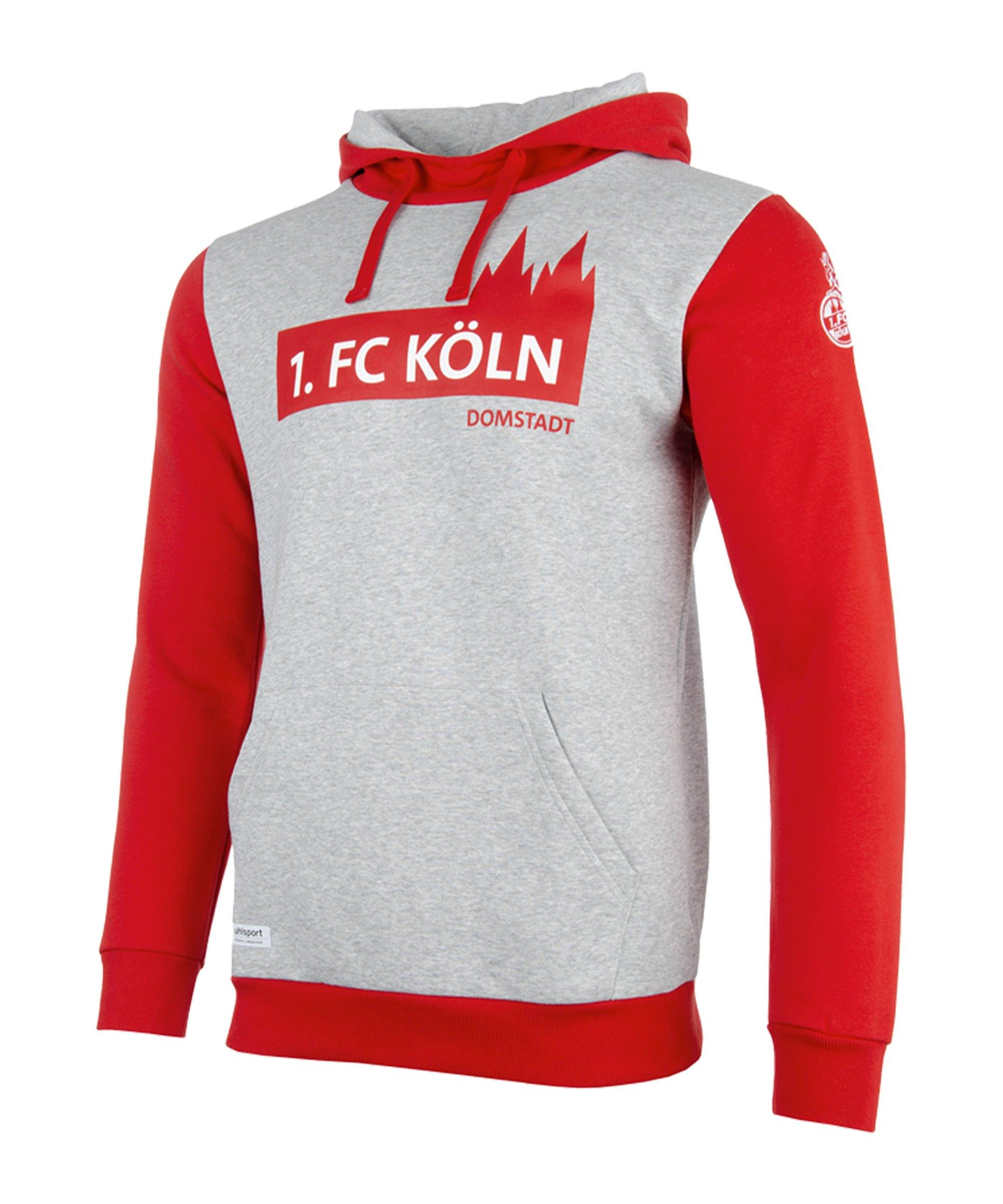 Uhlsport 1. FC Köln 3.0 Hoody Grau Rot - grau