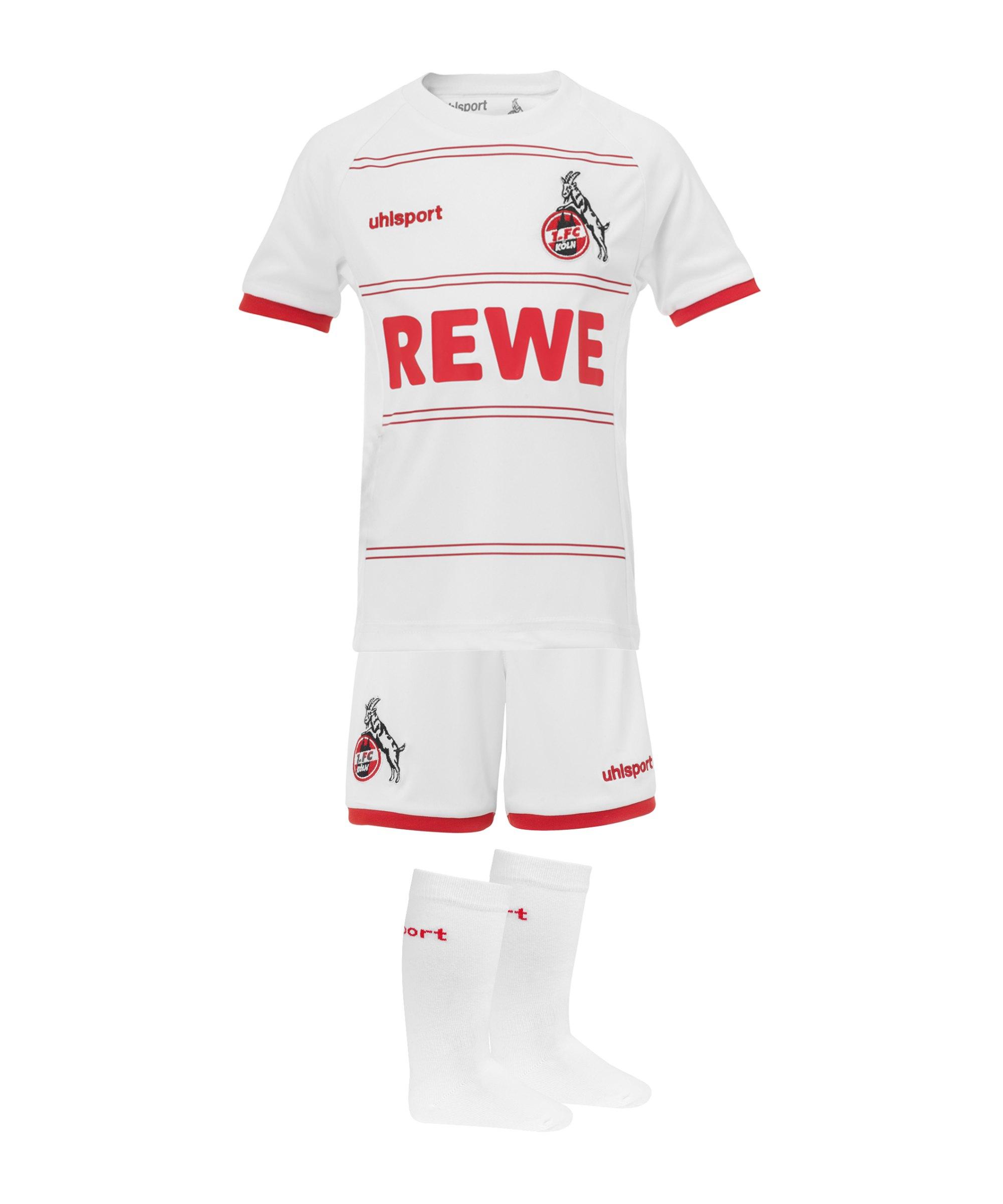 Uhlsport 1. FC Köln Mini-Kit Home 2021/2022 Weiss - weiss