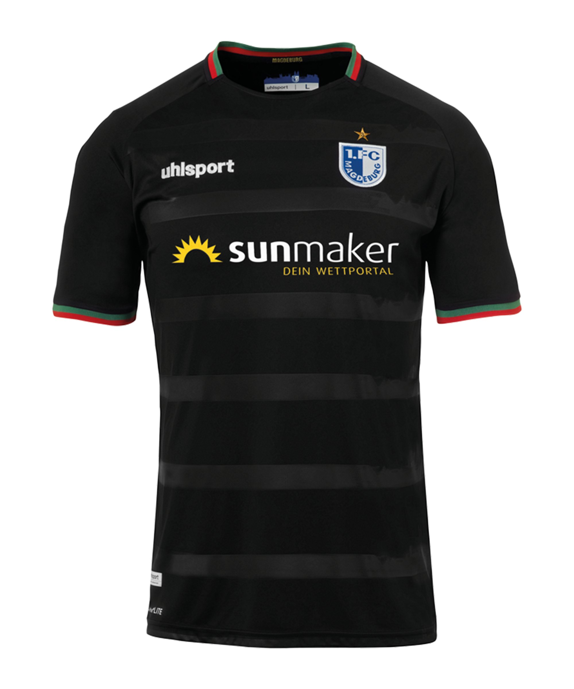 Uhlsport 1. FC Magdeburg Trikot Away Kids 2020/202 - schwarz